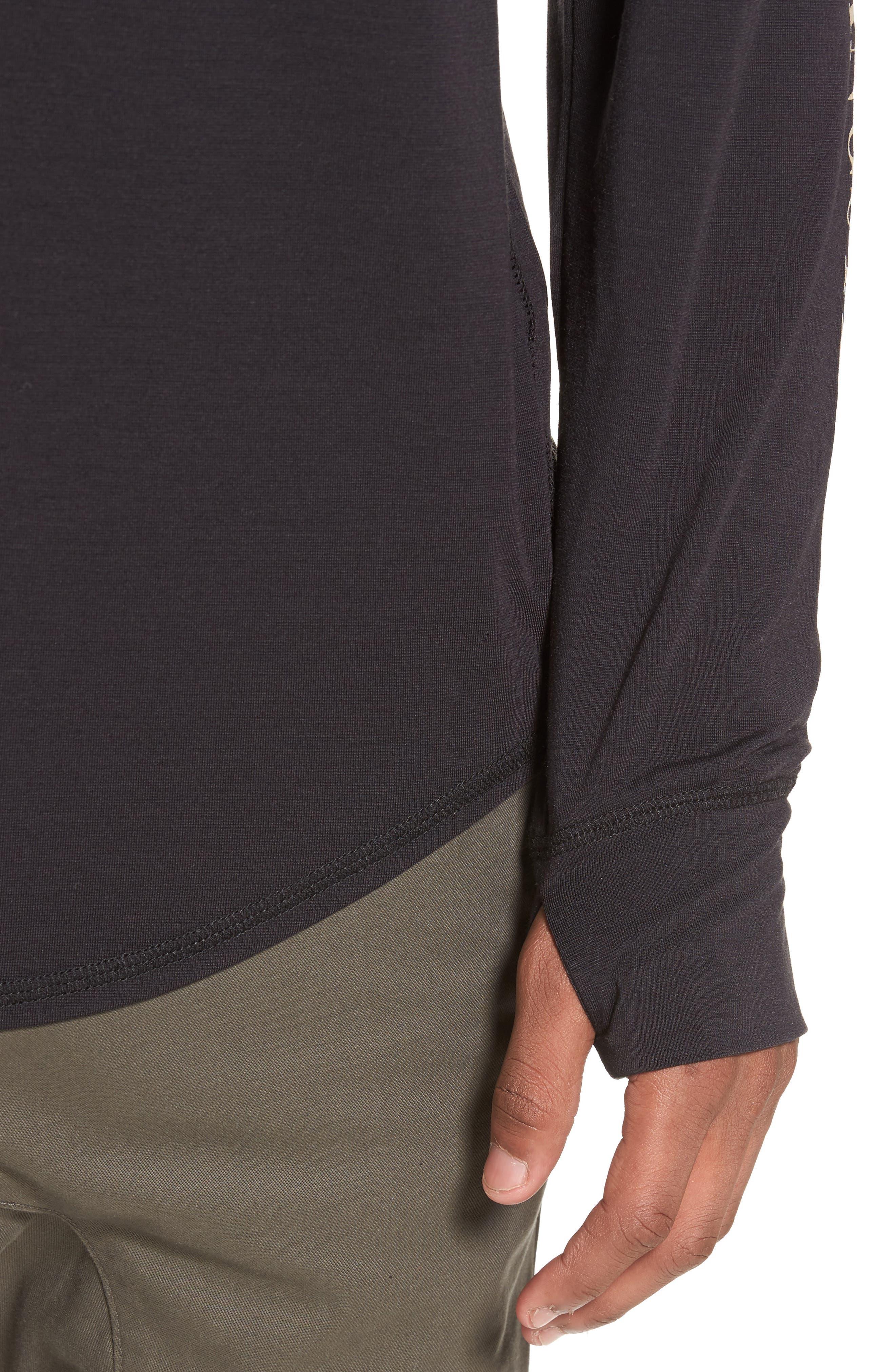 Yantra Wave T-Shirt,                             Alternate thumbnail 4, color,                             Black/ Black