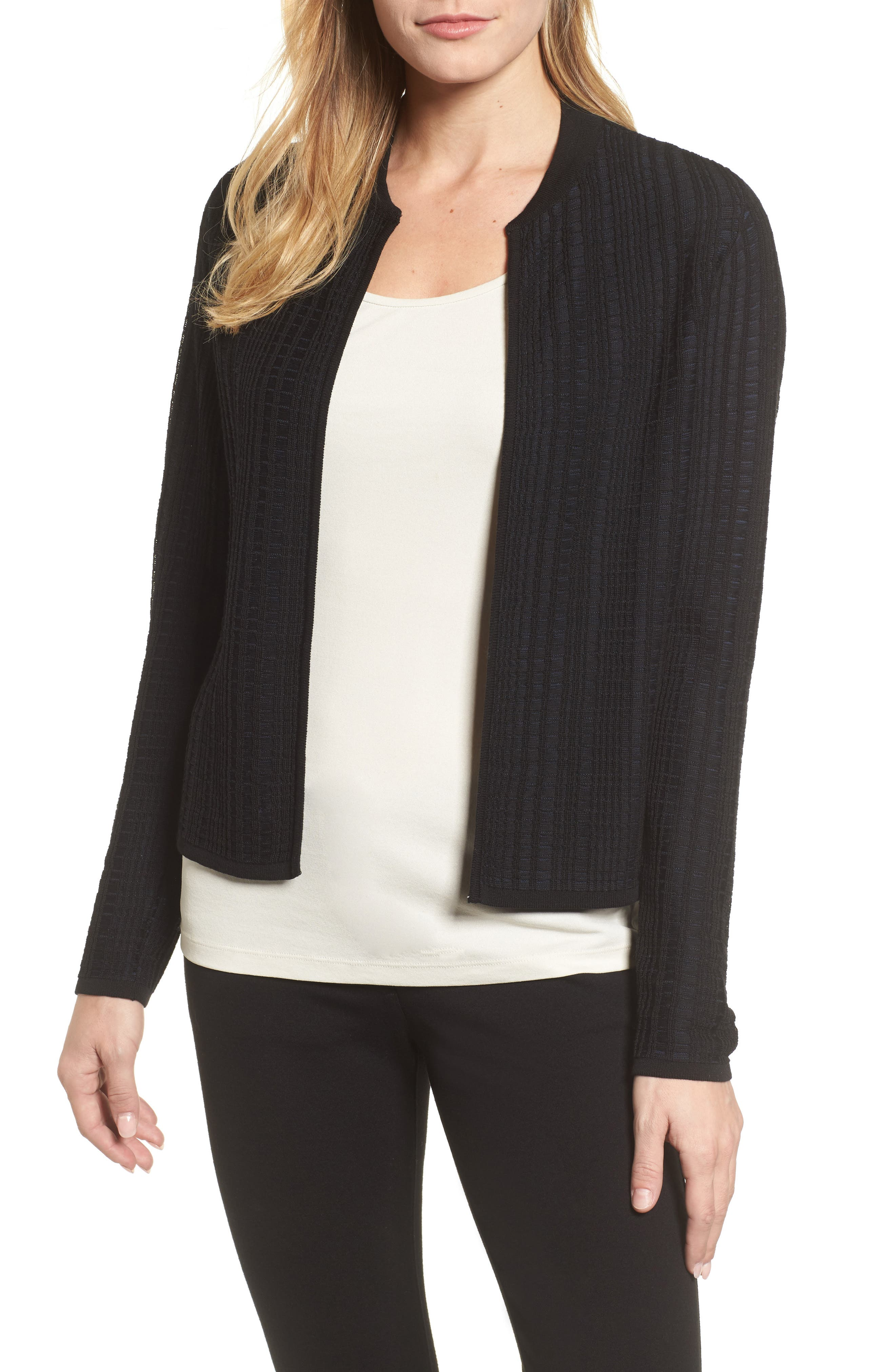 Tencel<sup>®</sup> Jacquard Jacket,                             Main thumbnail 1, color,                             Midnight