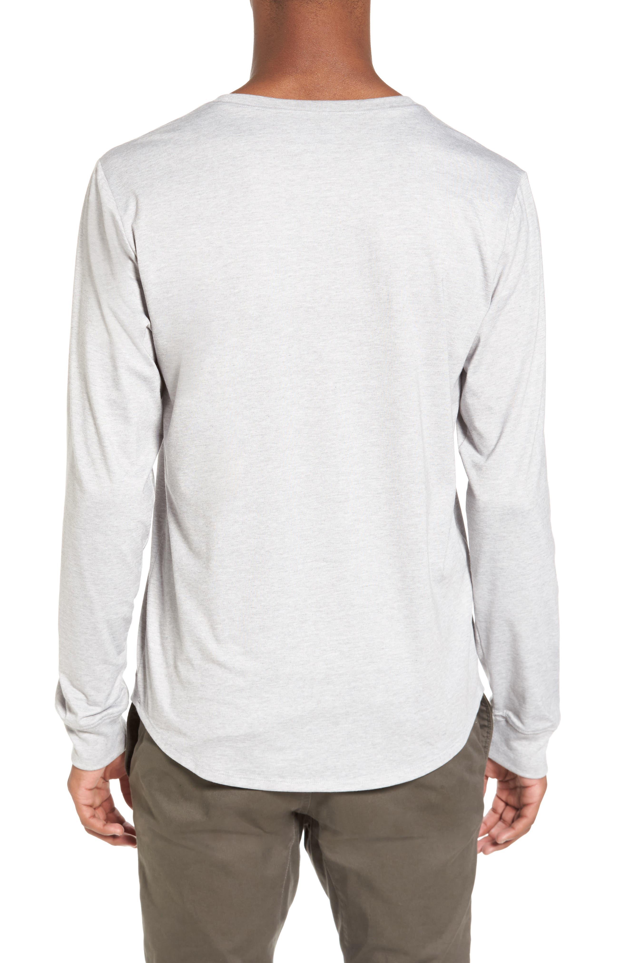 Yantra Long Sleeve T-Shirt,                             Alternate thumbnail 2, color,                             Heather Grey/ Heather Grey