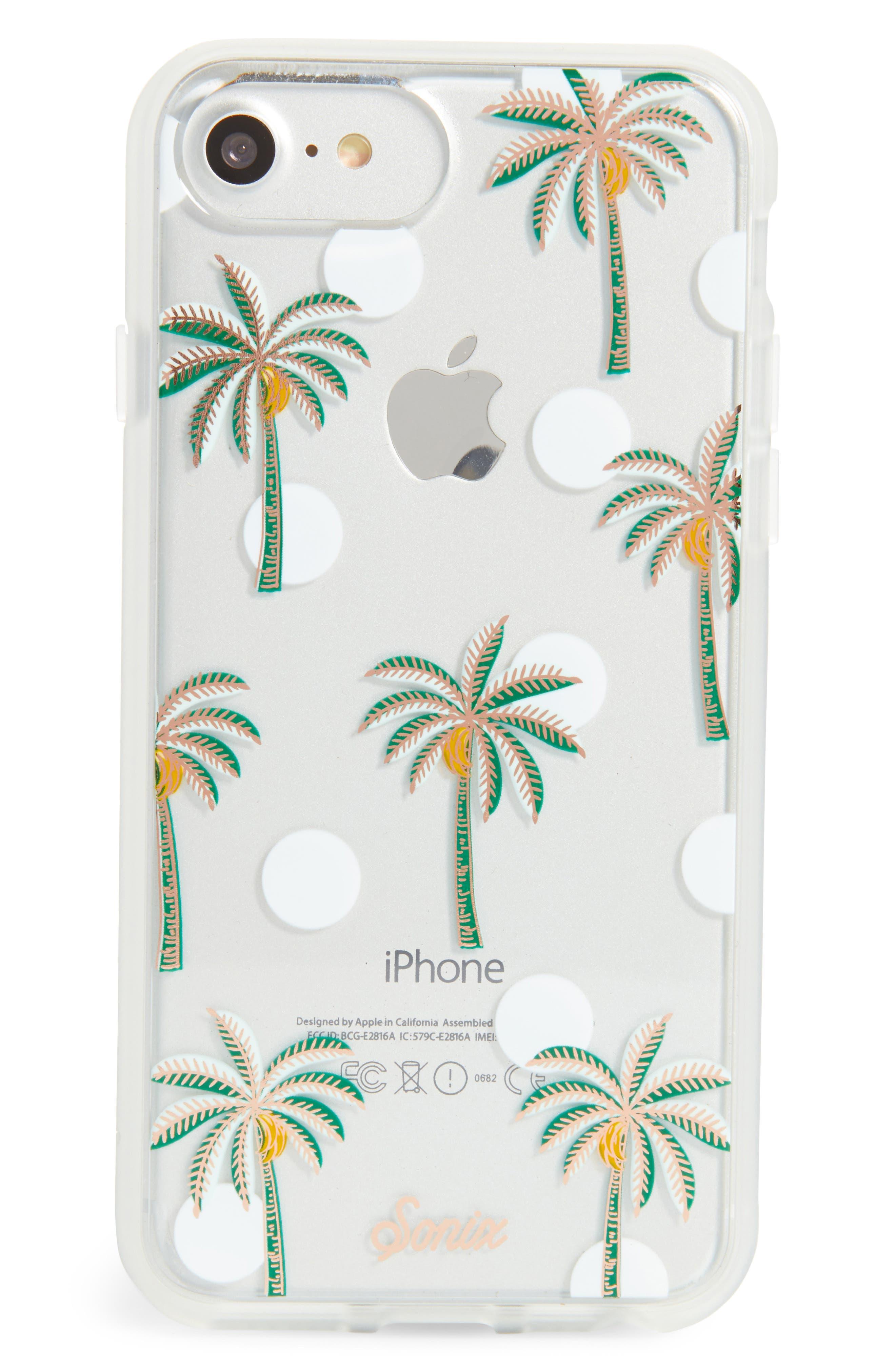 Bora Bora iPhone 6/6s/7/8 & 6/6s/7/8 Plus Case,                             Main thumbnail 1, color,                             Green/ White