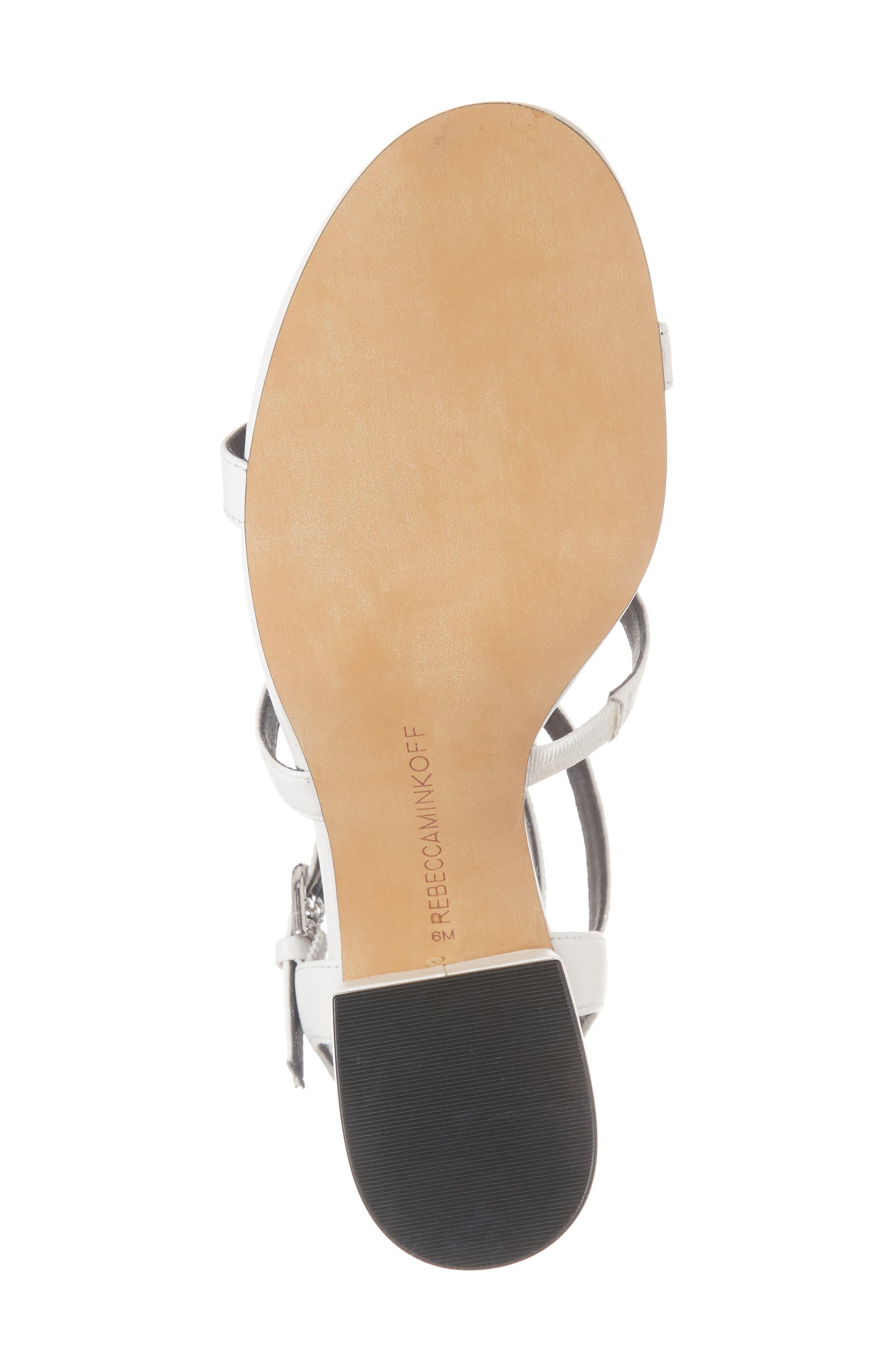 Lenore Sandal,                             Alternate thumbnail 6, color,                             Optic White Leather