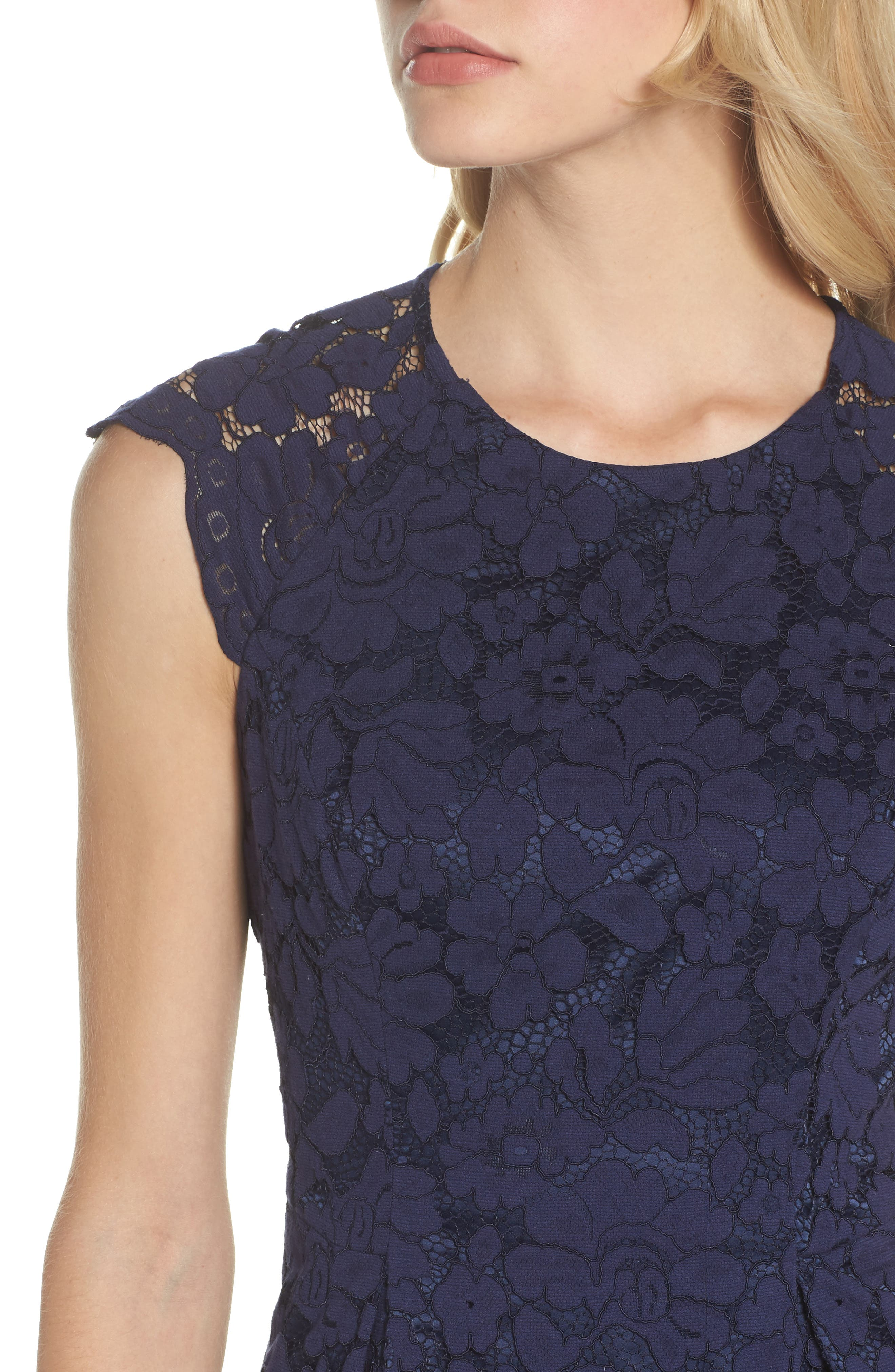 Alternate Image 4  - Vince Camuto Lace Fit & Flare Dress
