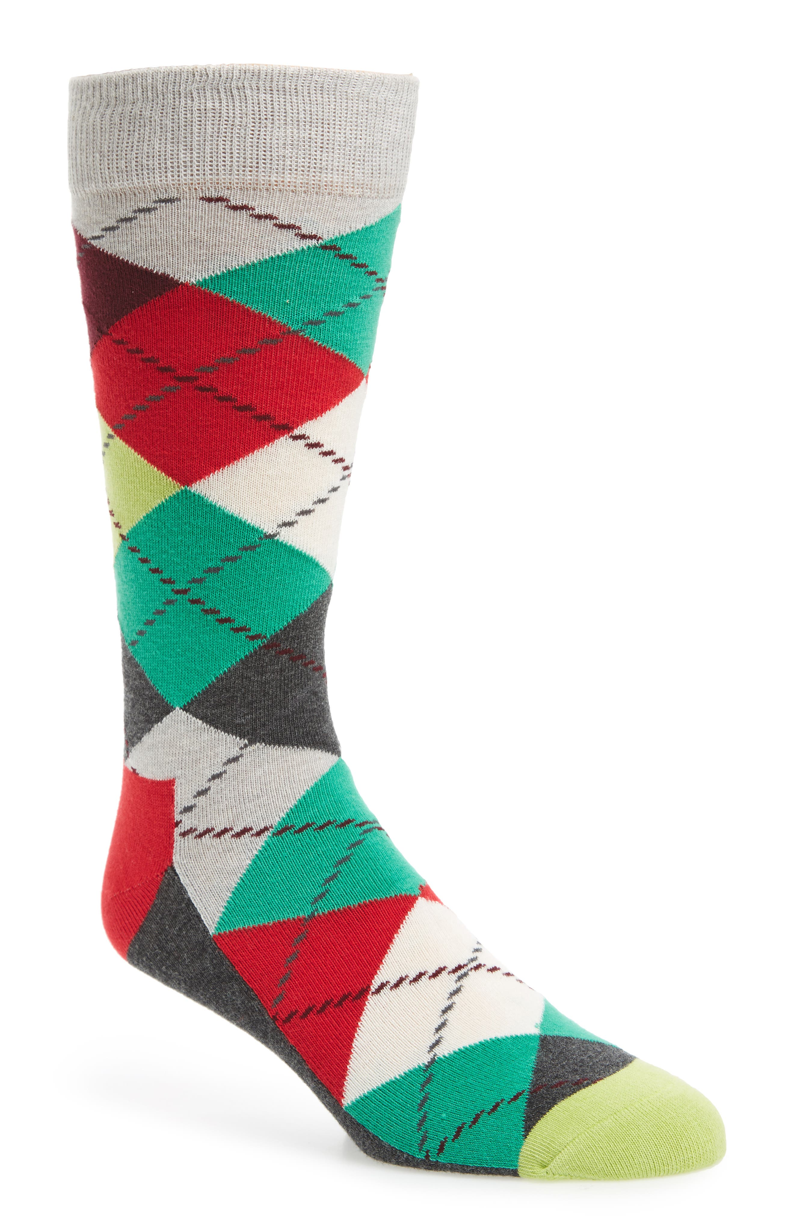 Argyle Socks,                         Main,                         color, Grey / Grey