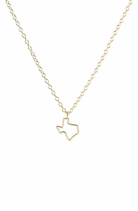 Texas state necklace nordstrom kris nations texas outline charm necklace mozeypictures Images