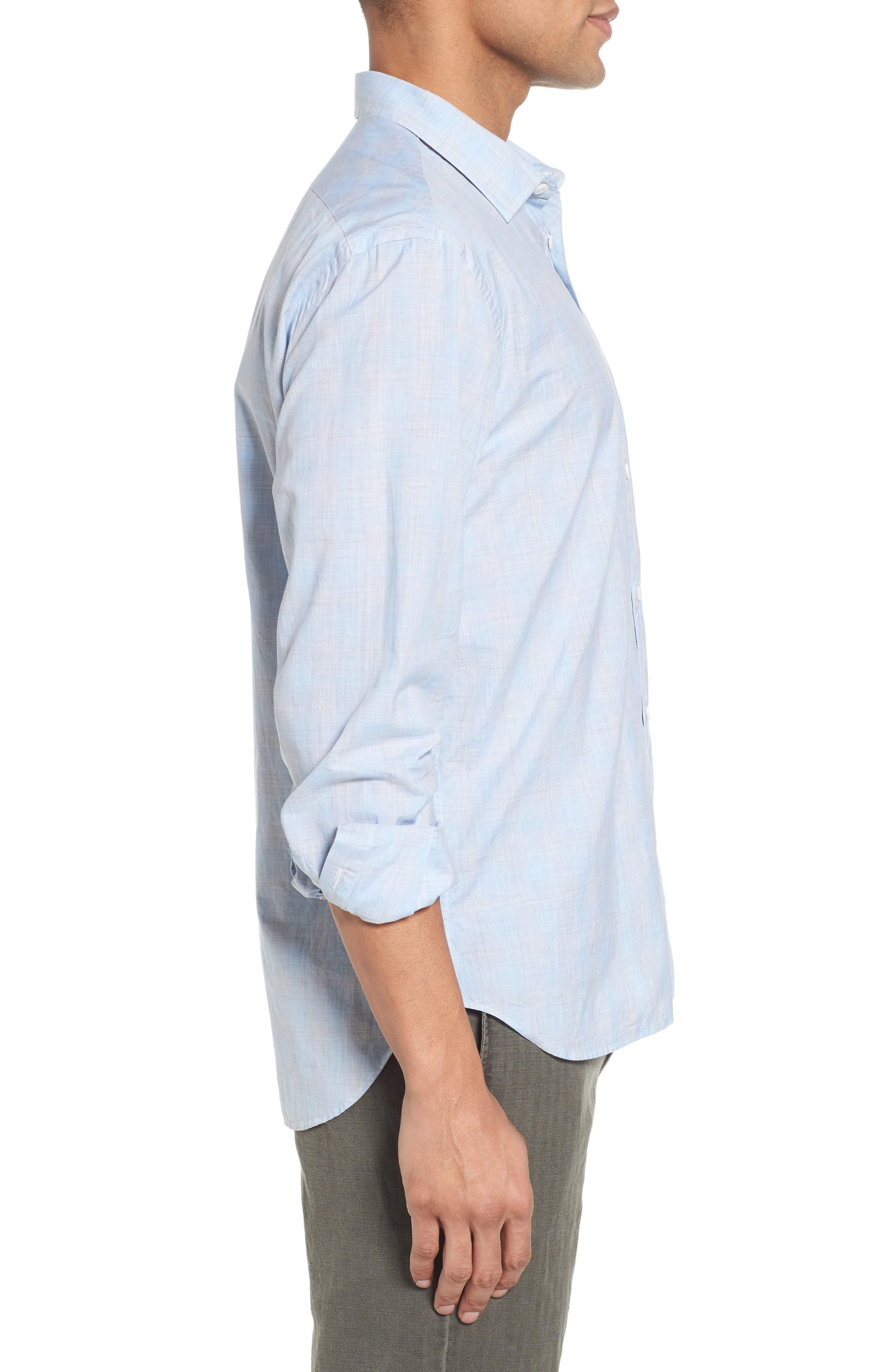 John T Slim Fit Sport Shirt,                             Alternate thumbnail 4, color,                             Light Blue