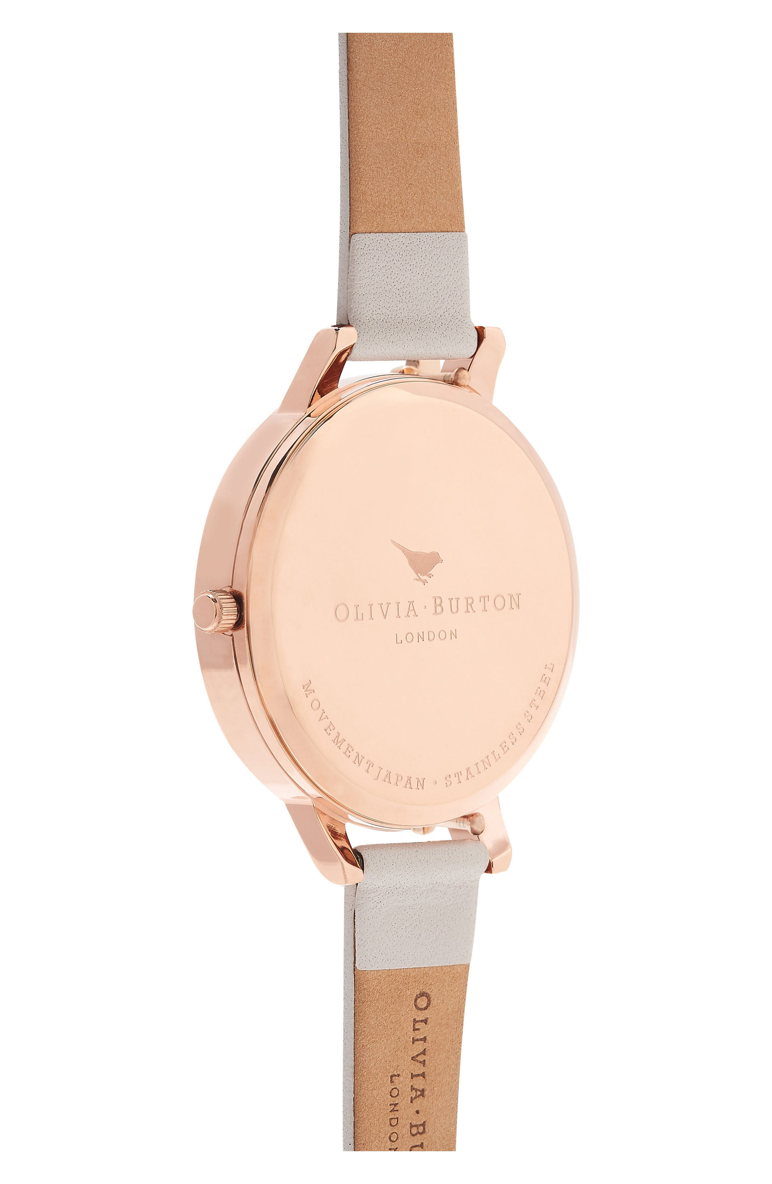 Case Cuff Leather Strap Watch, 38mm,                             Alternate thumbnail 6, color,                             Blush/ White/ Rose Gold