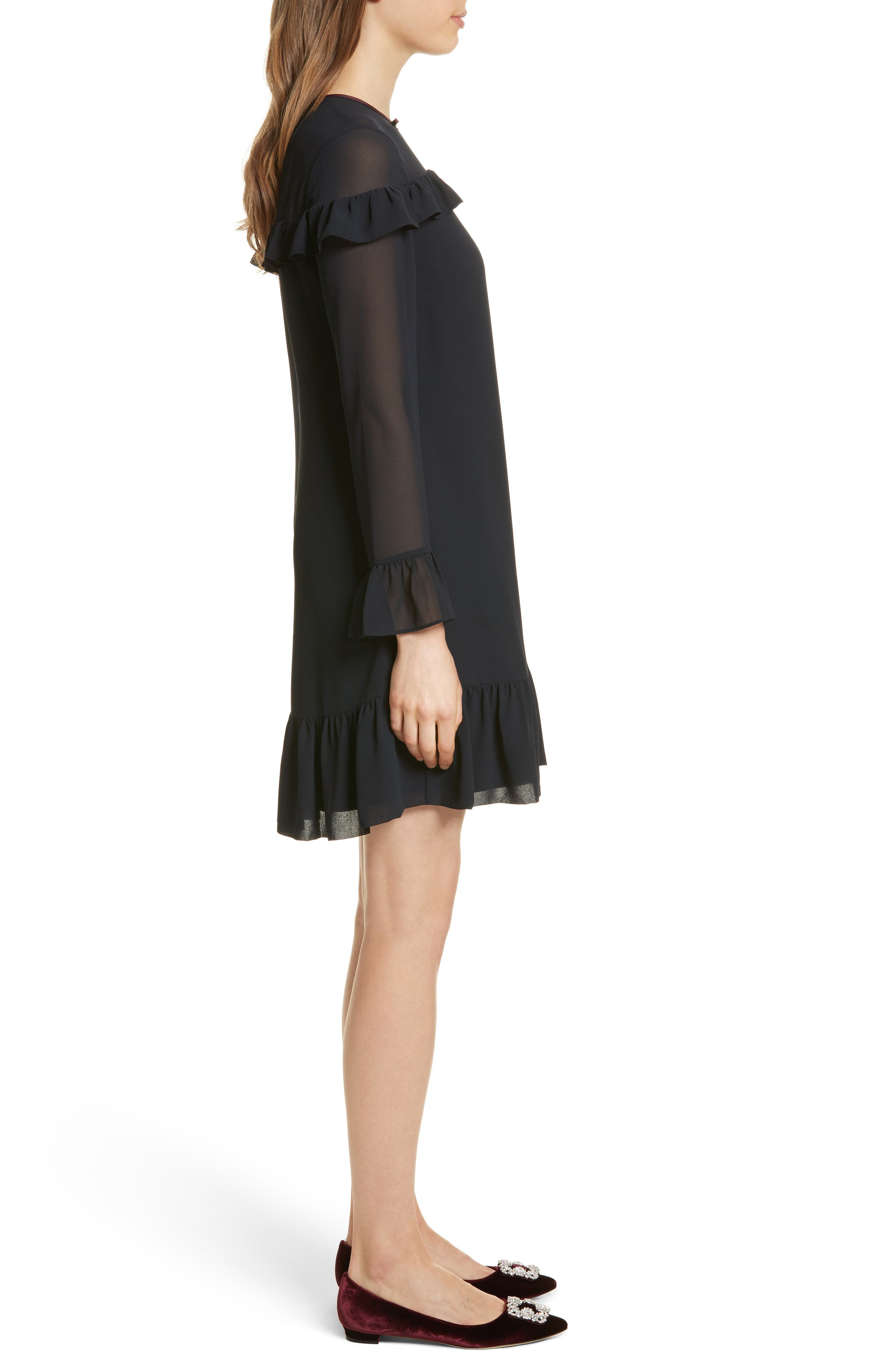 Alternate Image 3  - Ted Baker London Ruffle Trim Shift Dress