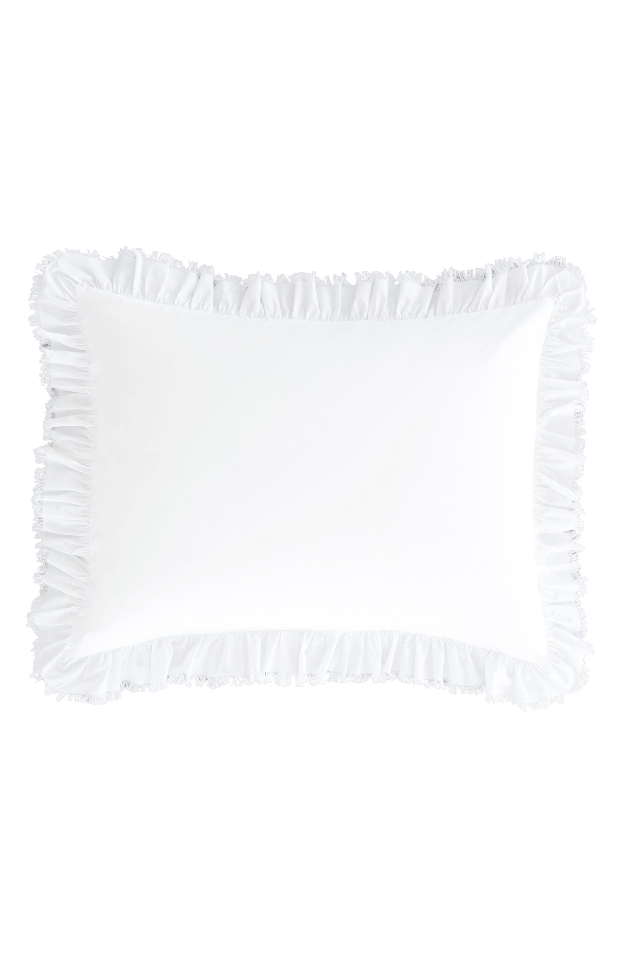 Ruffle Sham,                         Main,                         color, White