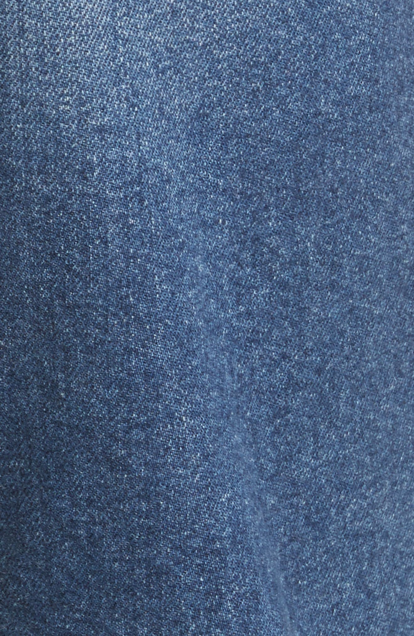 W3 Higher Ground Fringe Crop Straight Leg Jeans,                             Alternate thumbnail 6, color,                             Spanish Fringe