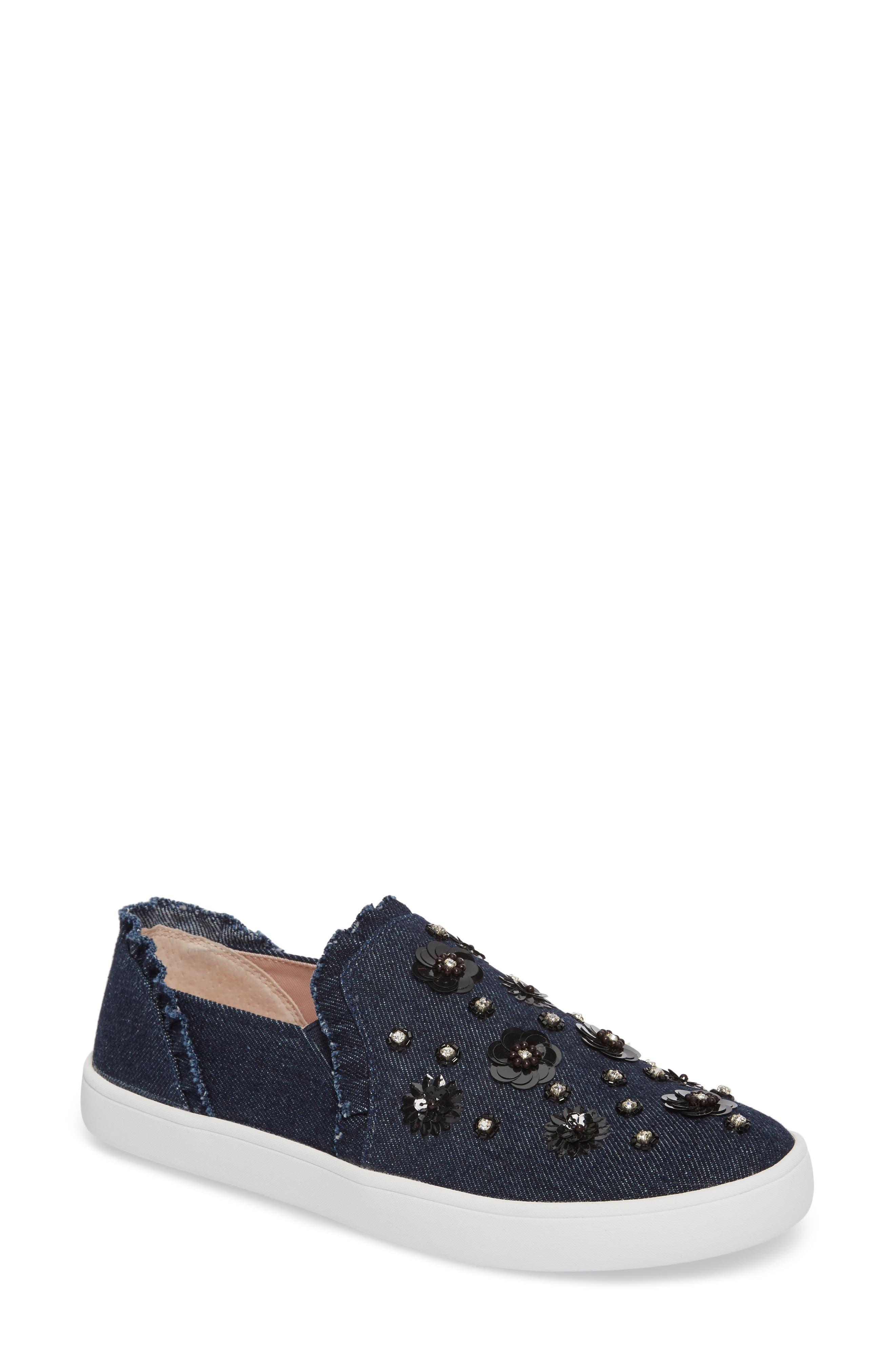 louise slip-on sneaker,                         Main,                         color, Indigo Denim