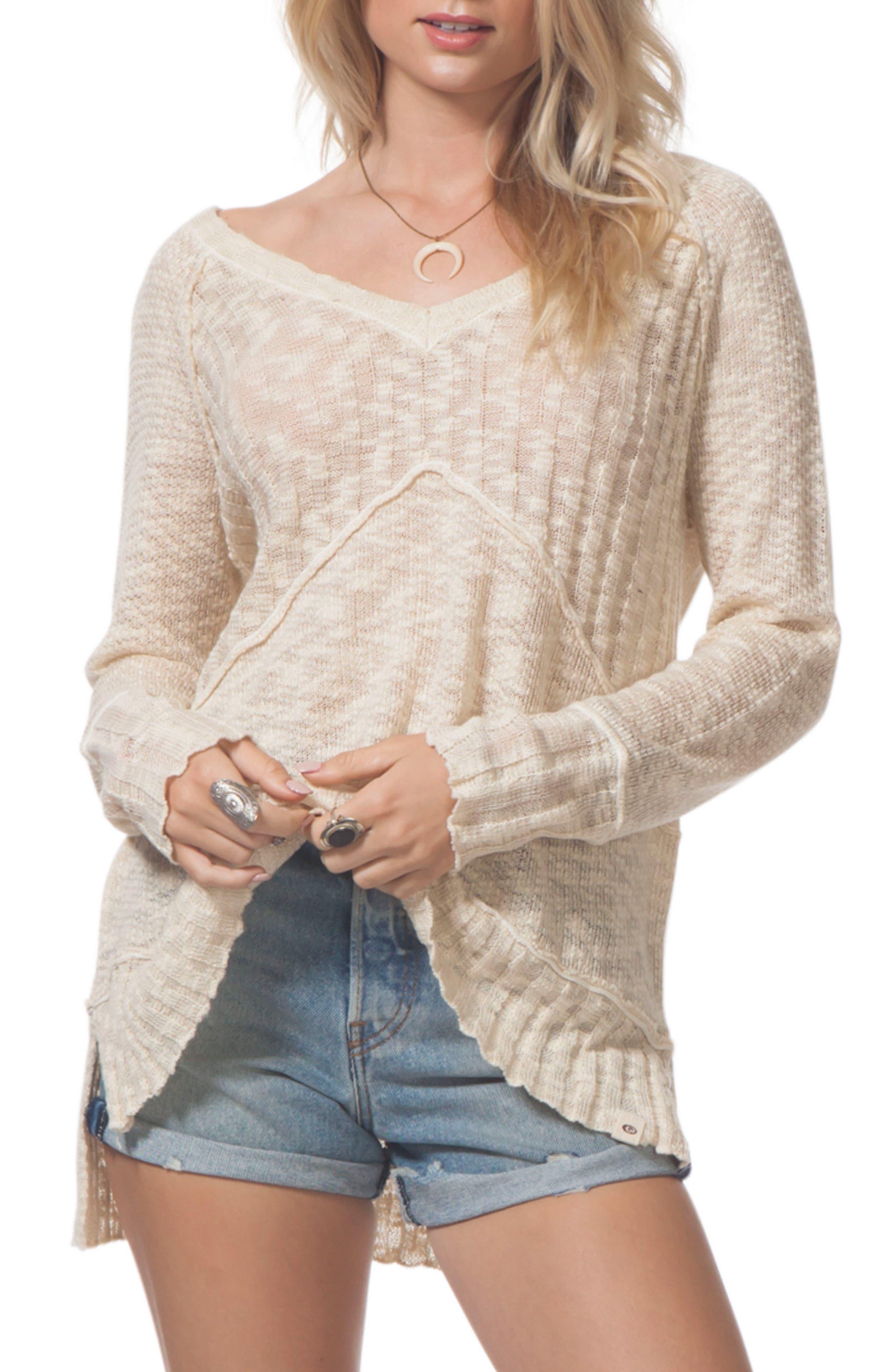 Reflection Sweater,                         Main,                         color, Vanilla