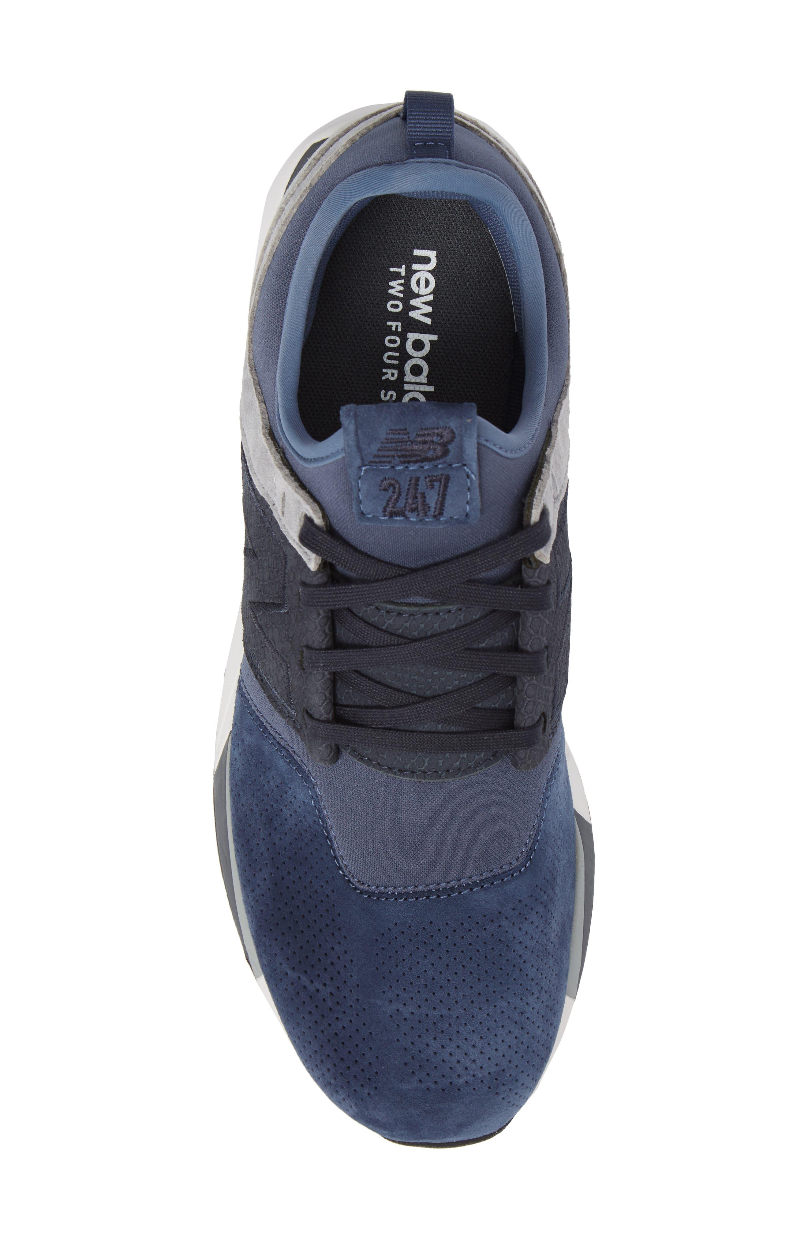 247 Luxe Sneaker,                             Alternate thumbnail 5, color,                             Blue