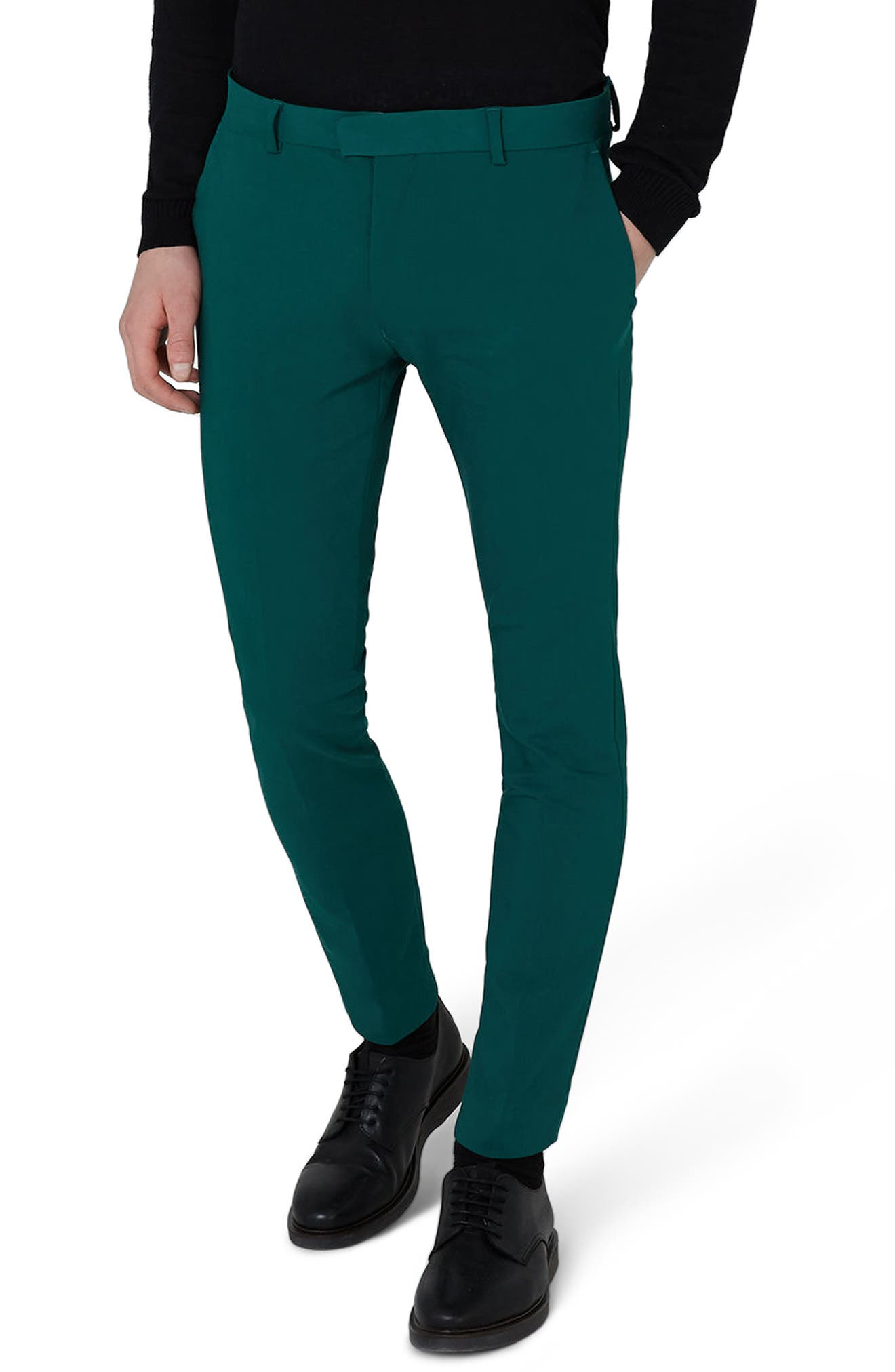 Skinny Fit Suit Trousers,                         Main,                         color, Green