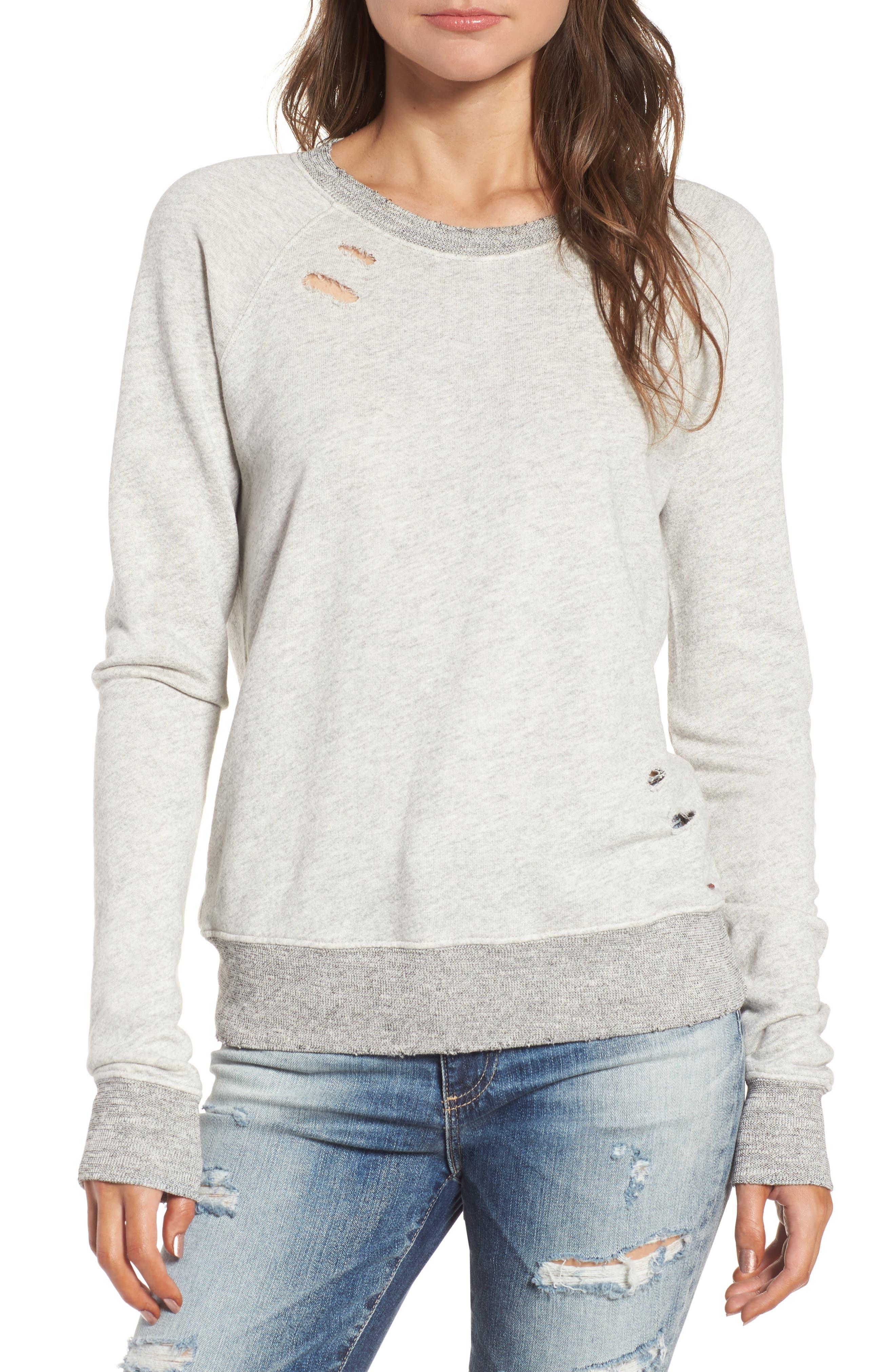 Belize Deconstructed Sweatshirt,                         Main,                         color, Heather Grey
