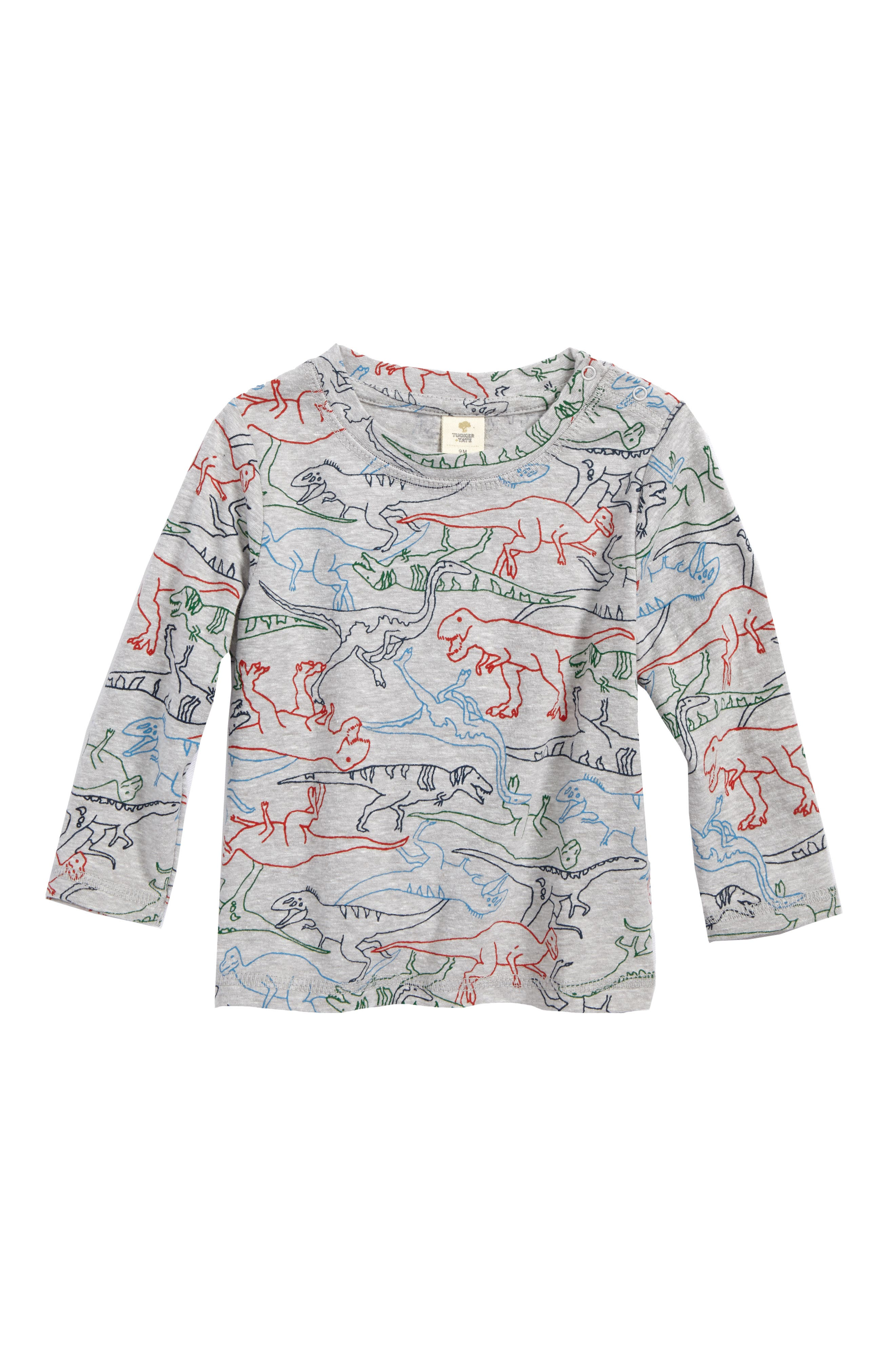 Print T-Shirt,                         Main,                         color, Grey Ash Heather Multi Dino
