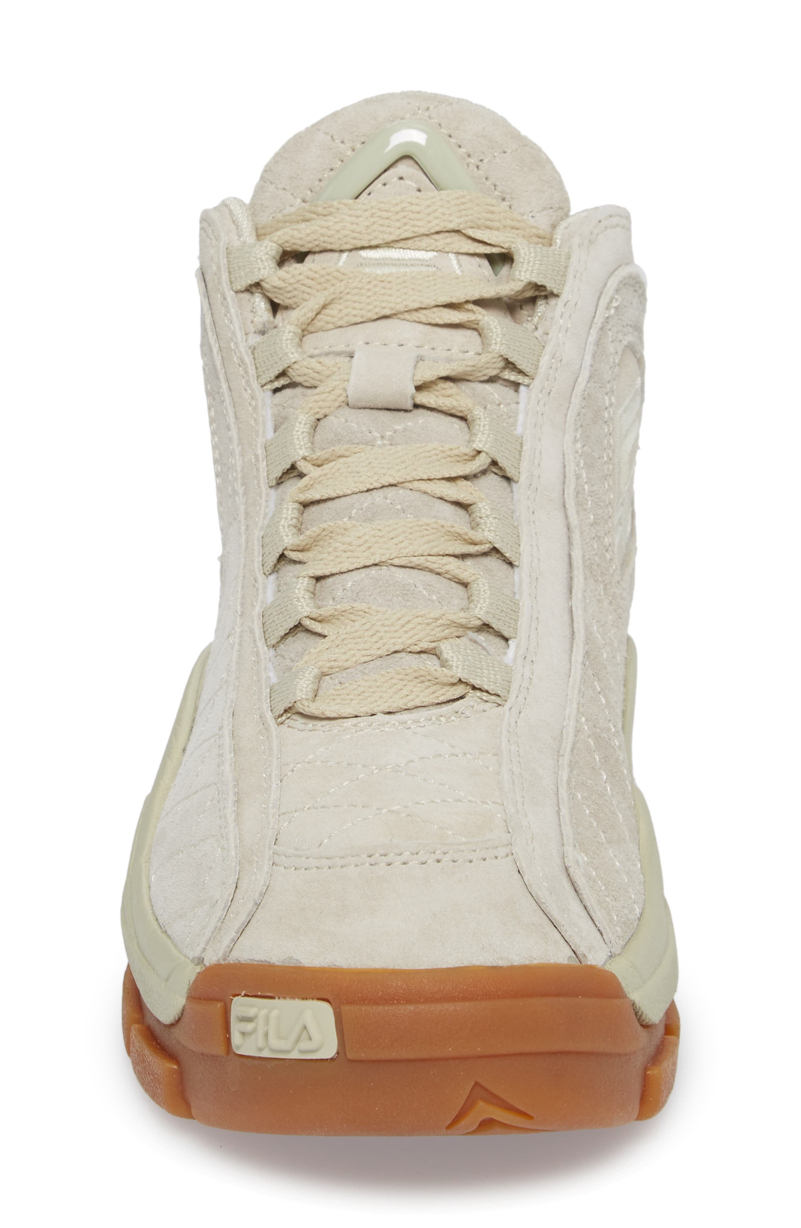96 Quilted Mid-Top Sneaker,                             Alternate thumbnail 4, color,                             Cream/ Gum