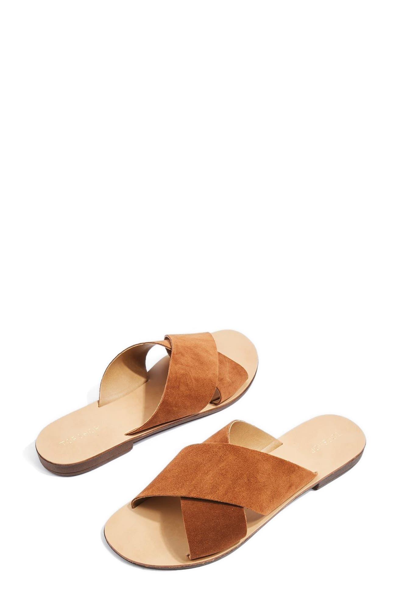Topshop Hawaii Crisscross Sandal (Women)