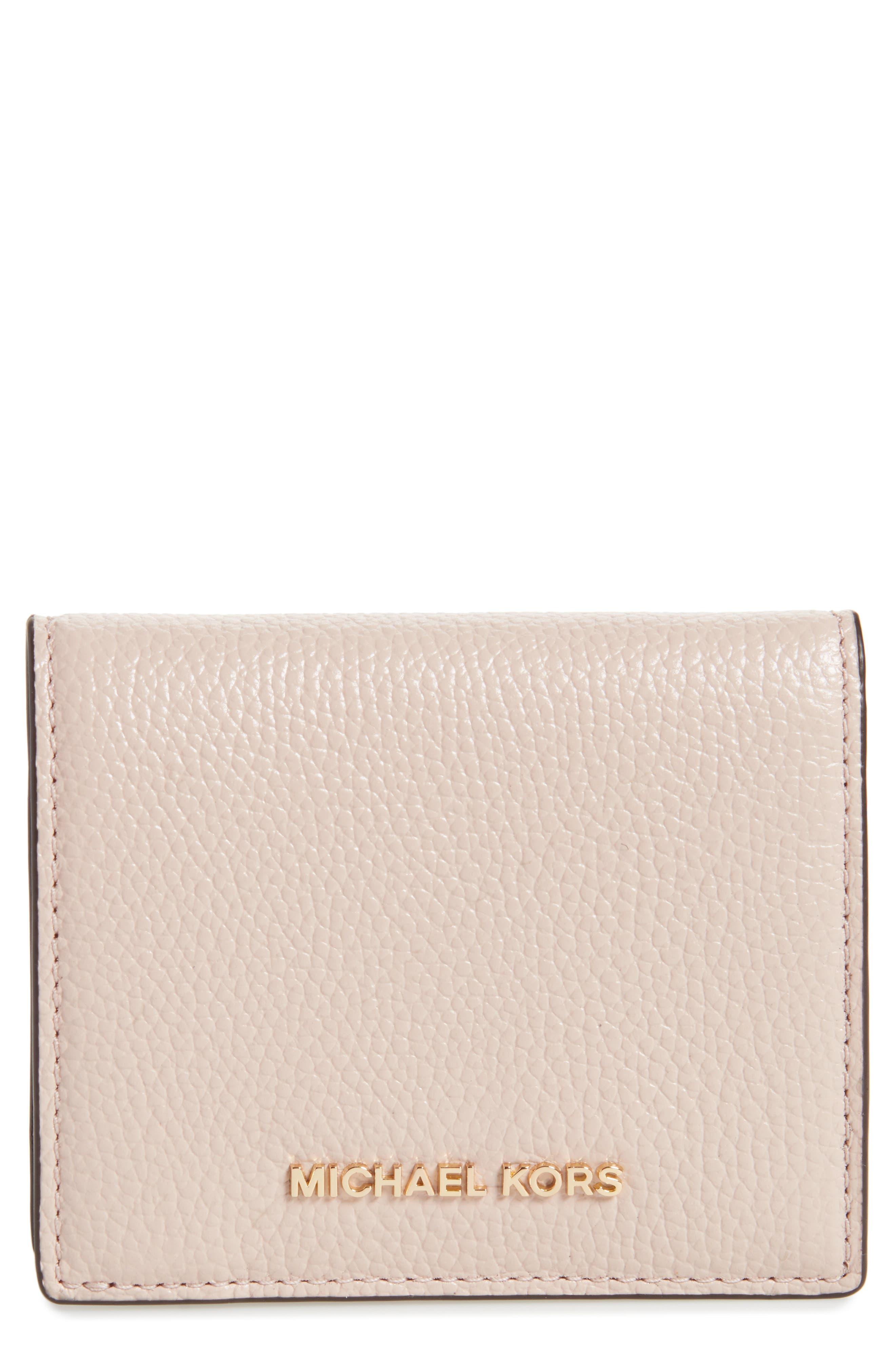 Main Image - MICHAEL Michael Kors Mercer Leather RFID Card Holder