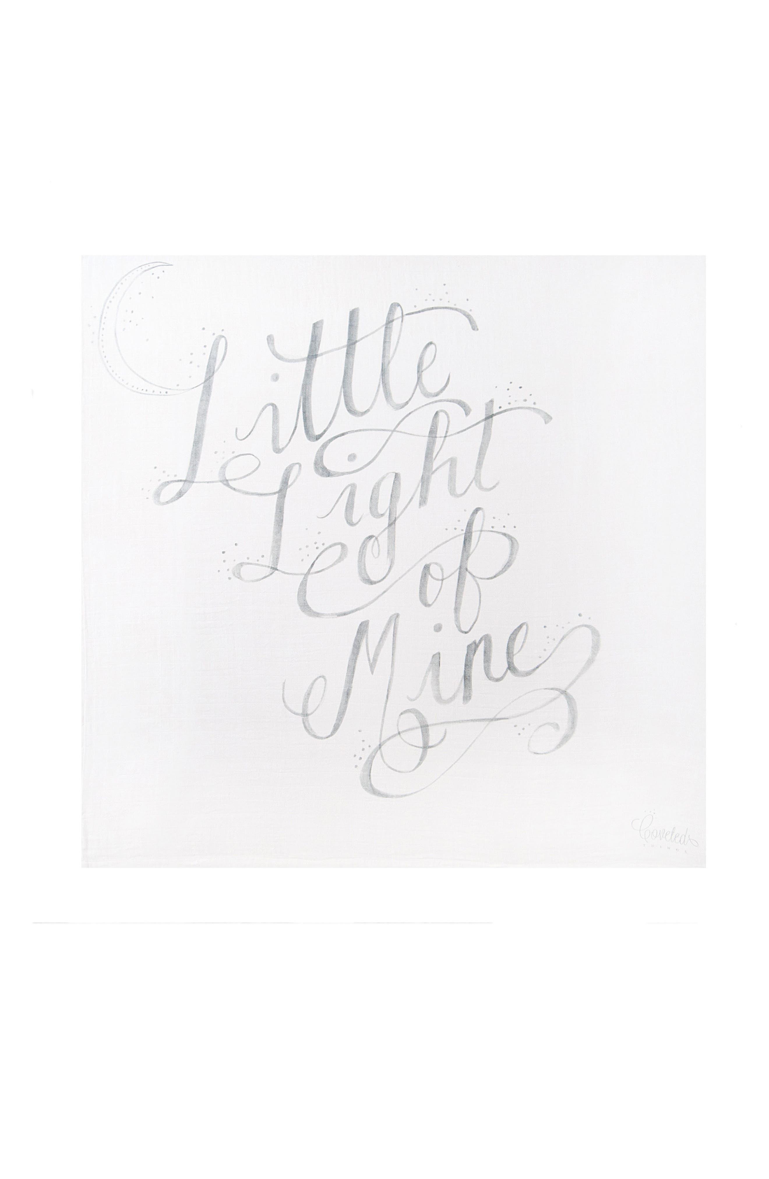 Little Light Organic Cotton Swaddle Scarf,                         Main,                         color, Cloud White/ Grey