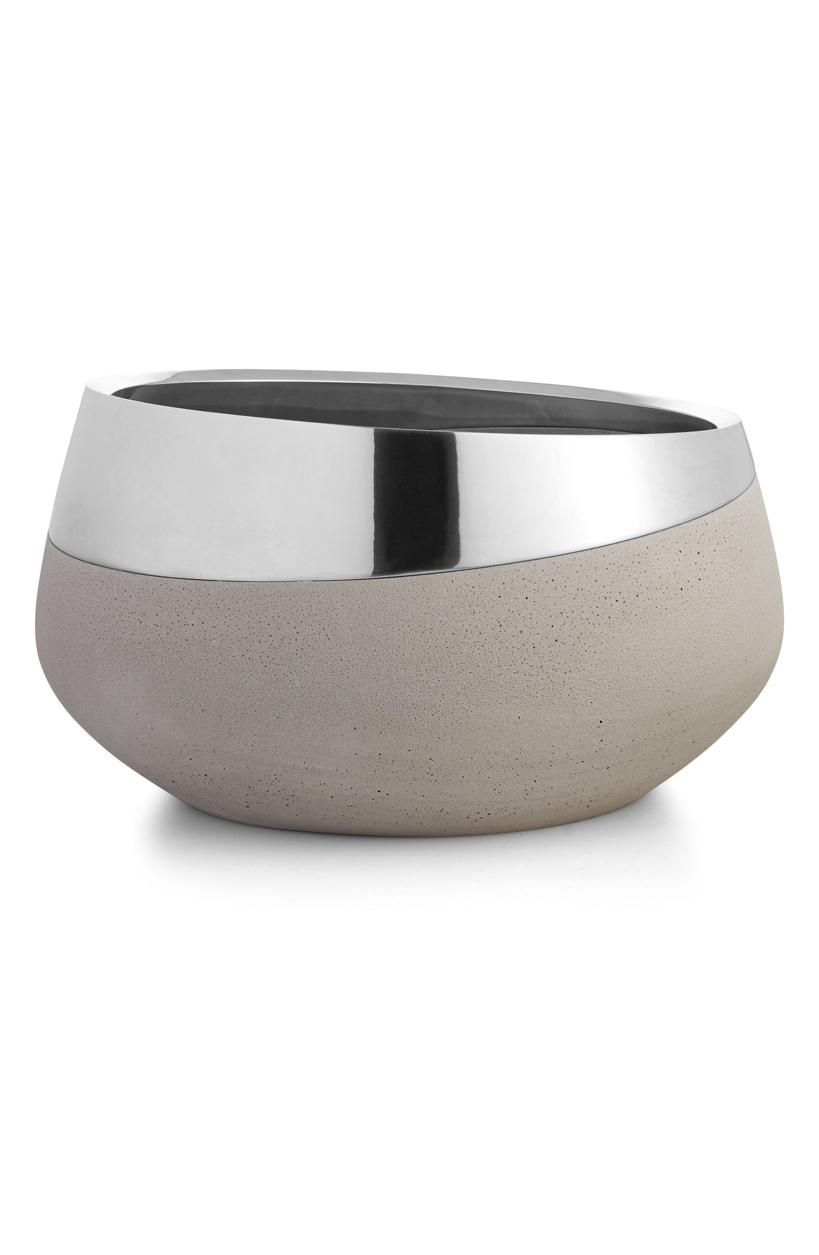 Forte Large Bowl,                             Main thumbnail 1, color,                             Silver/ Grey