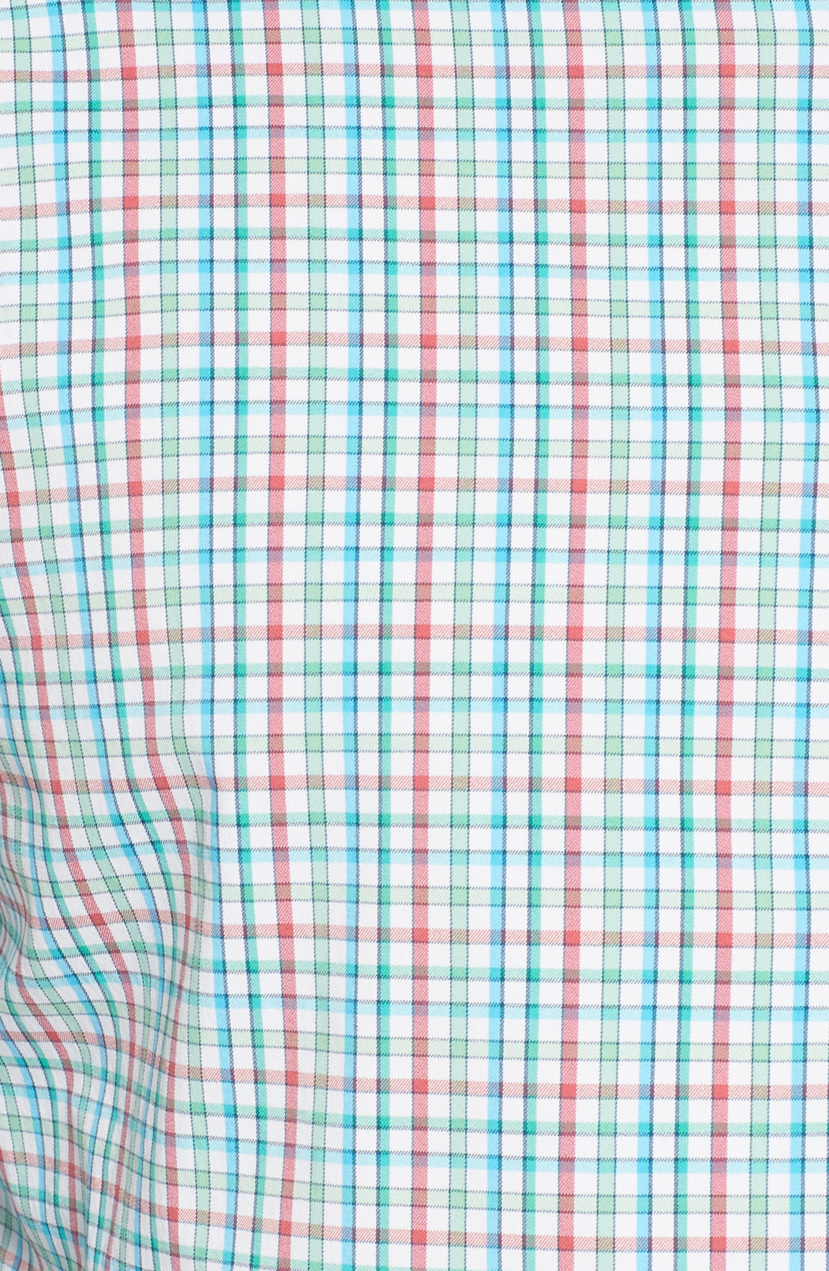 Gunn Regular Fit Tattersall Sport Shirt,                             Alternate thumbnail 5, color,                             White