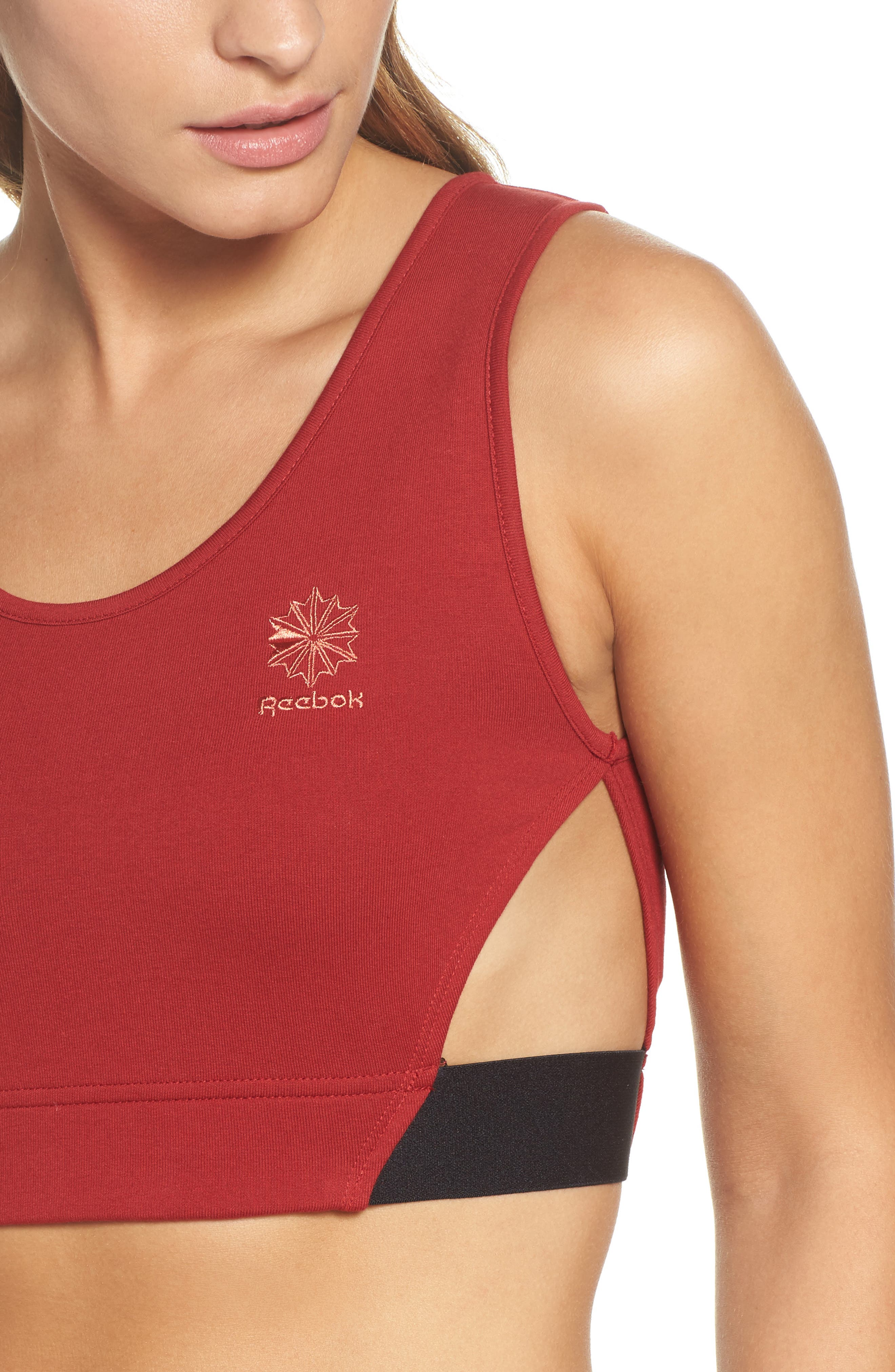 Alternate Image 4  - Reebok Elevated French Terry Sports Bra