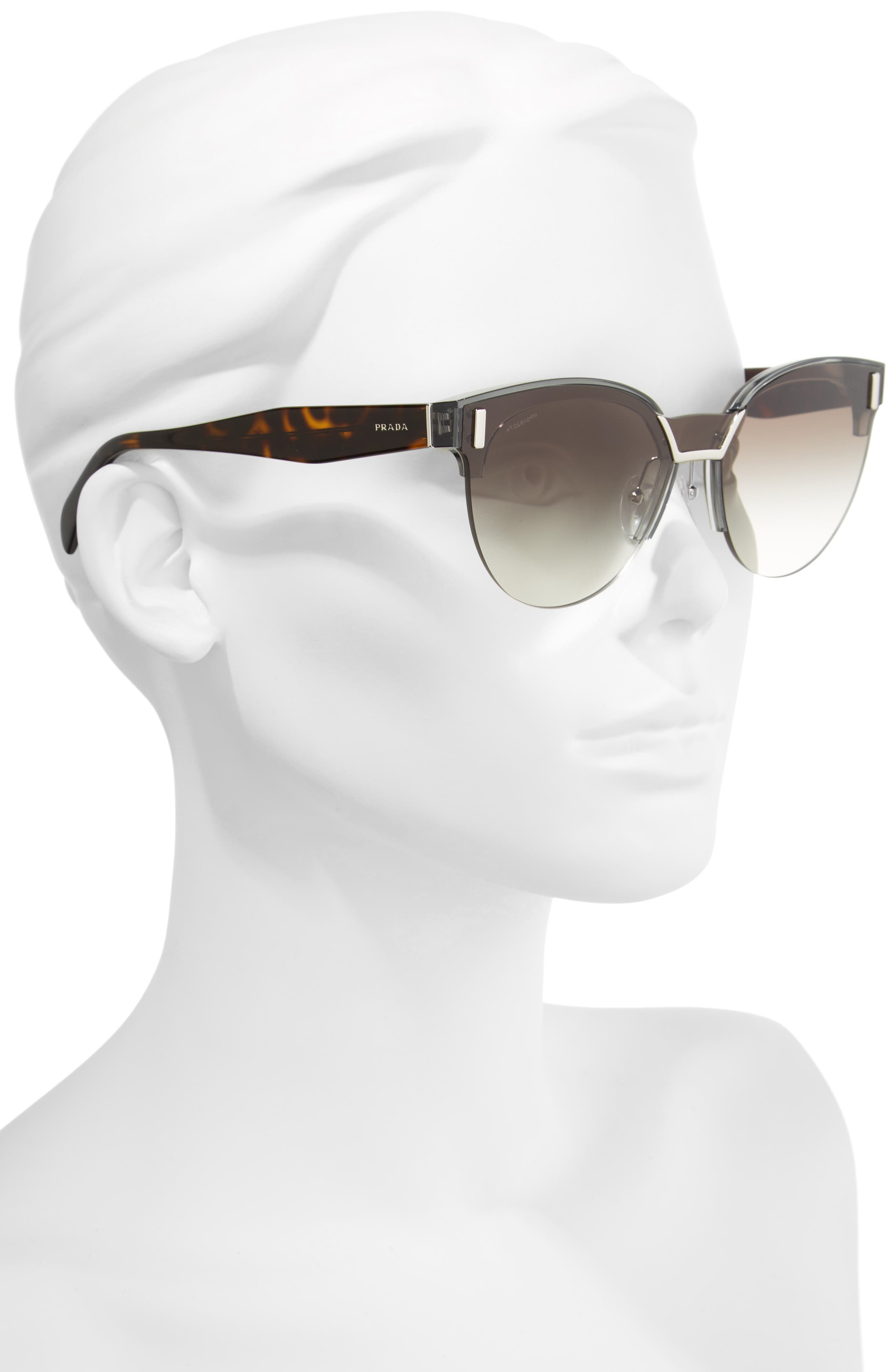 50mm Semi Rimless Gradient Sunglasses,                             Alternate thumbnail 2, color,                             Grey Gradient