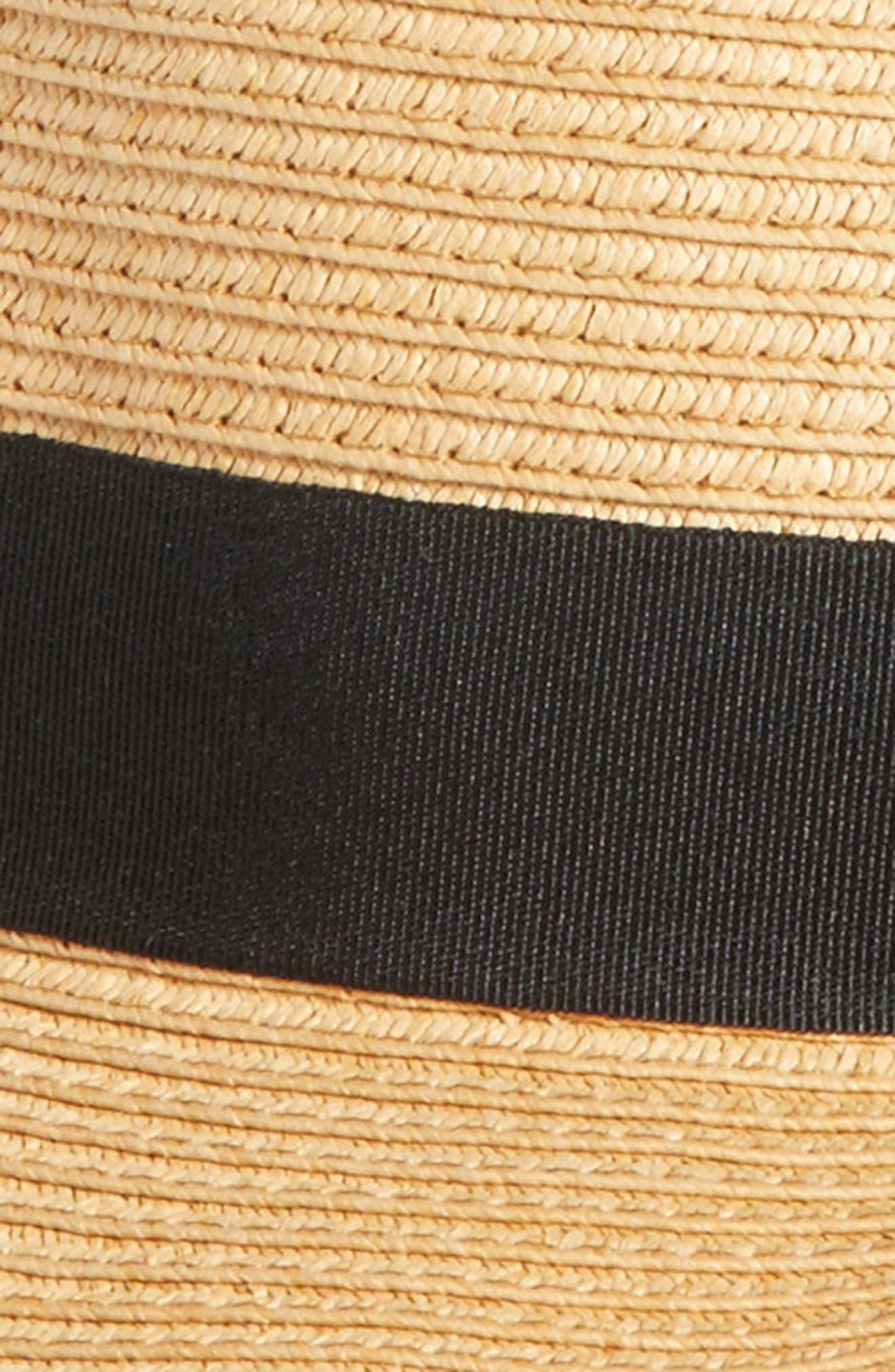 Straw Boater Hat,                             Alternate thumbnail 2, color,                             Tan Dark Natural