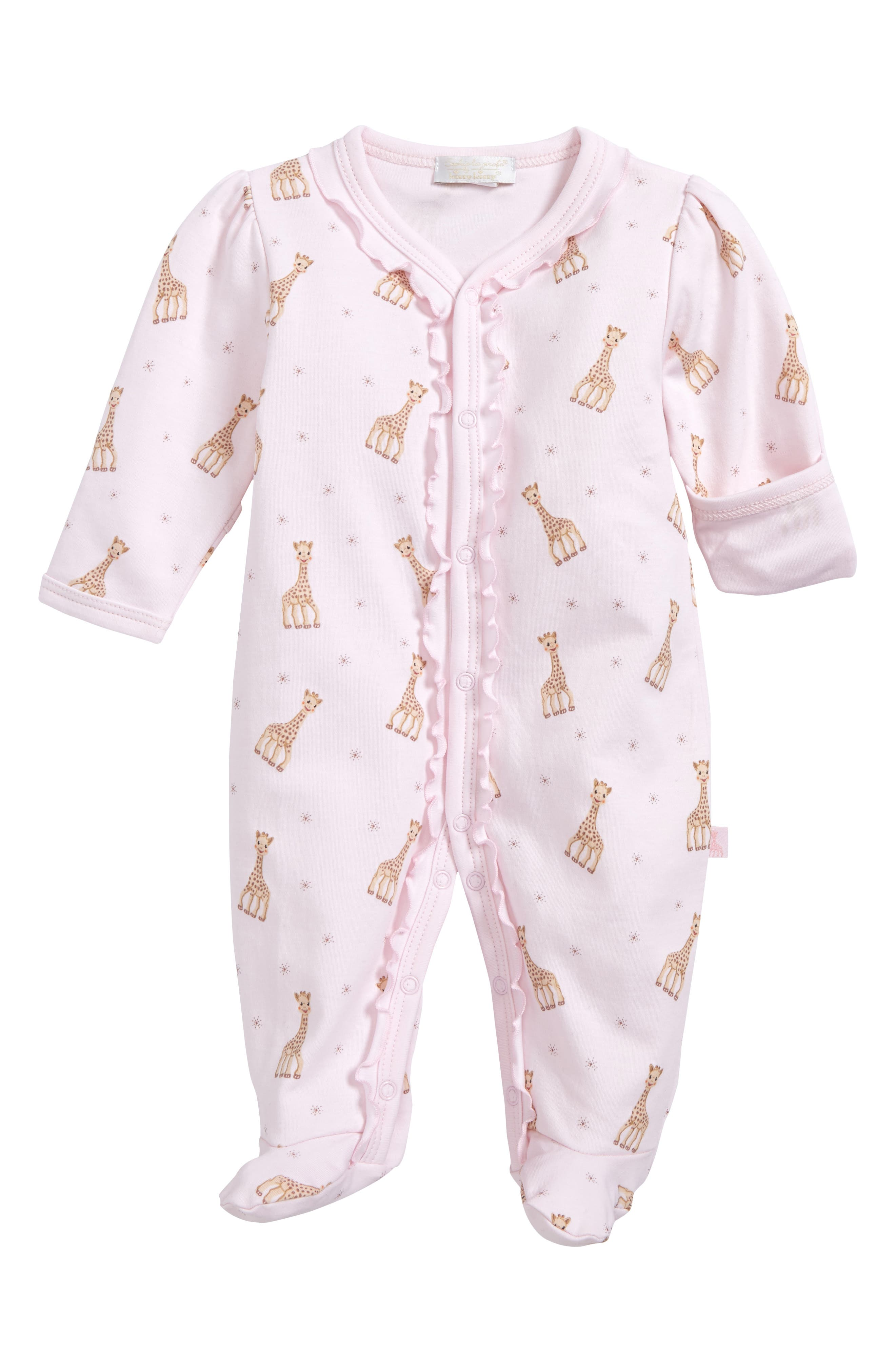 Alternate Image 1 Selected - Kissy Kissy Sophie Print Footie (Baby Girls)