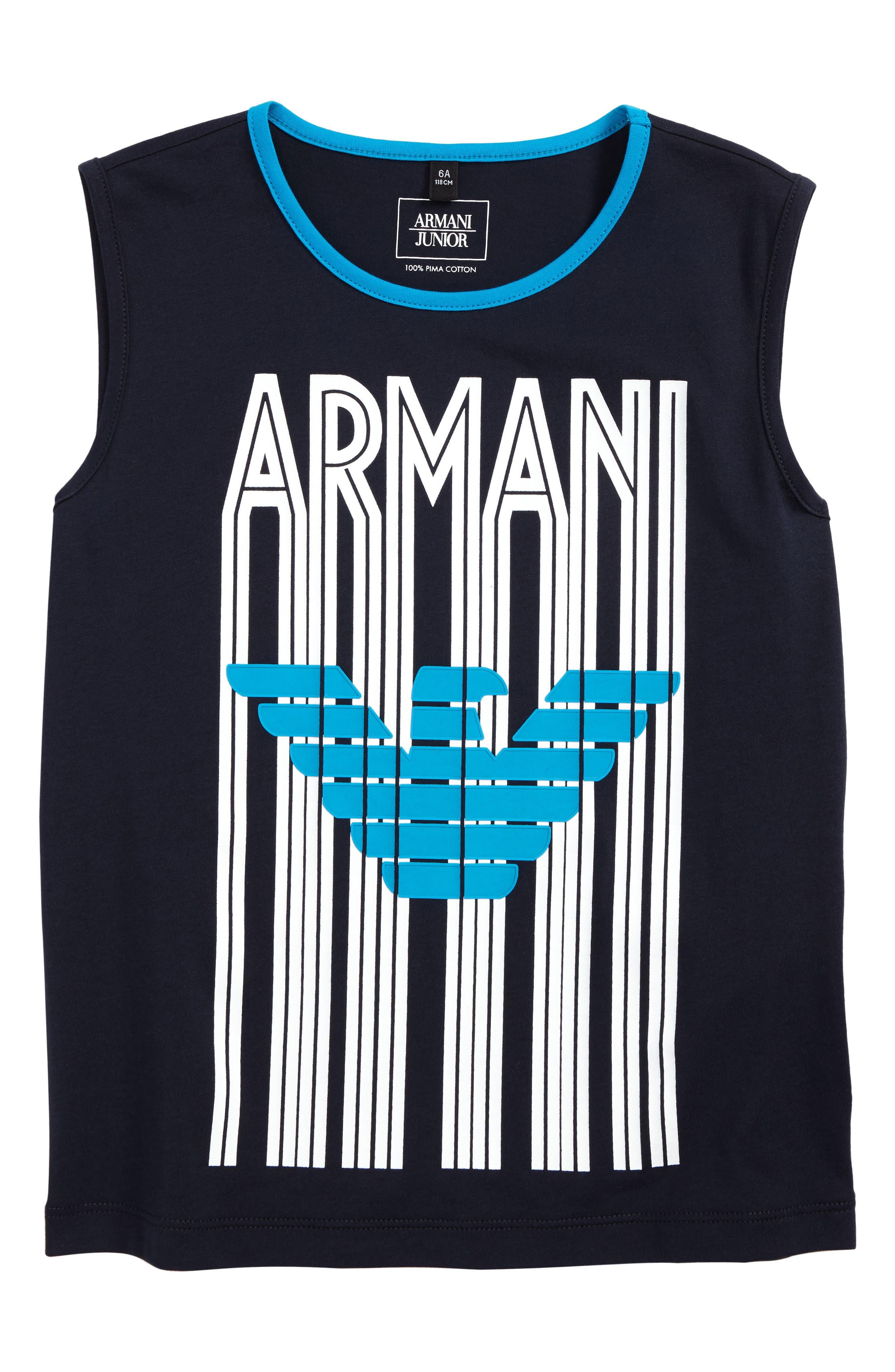 Armani Junior Logo Tank (Little Boys & Big Boys)