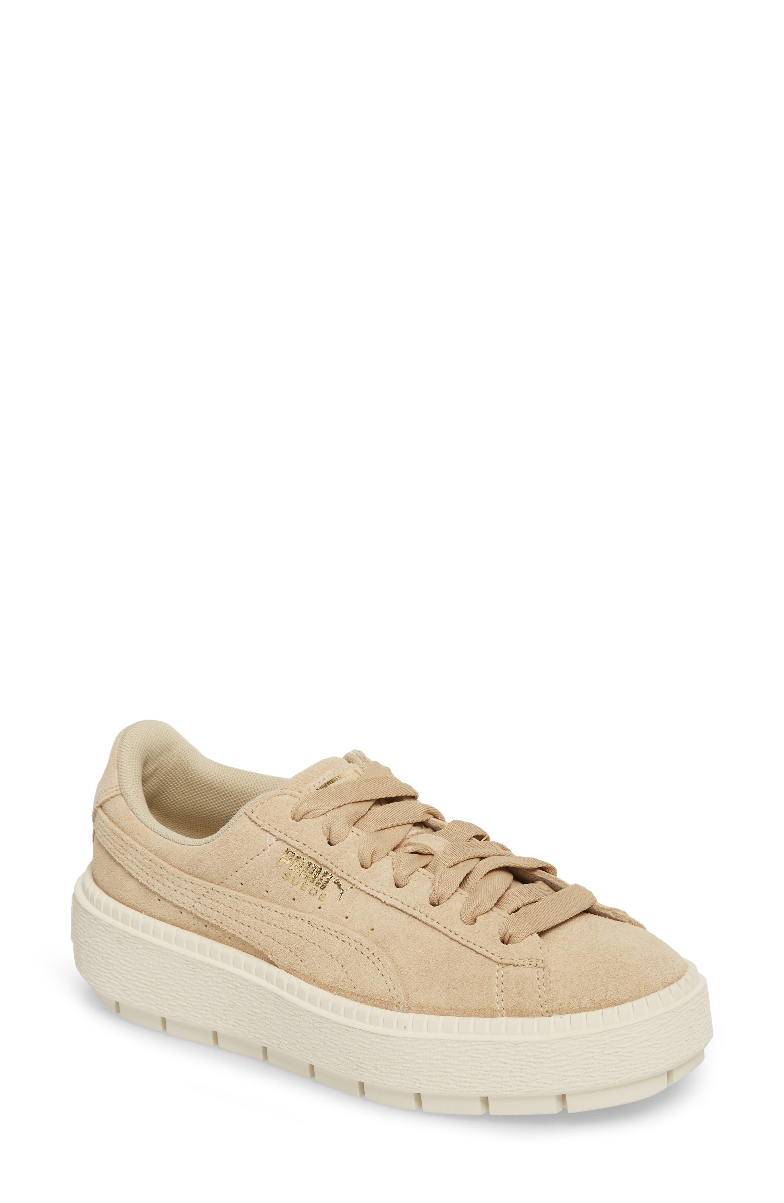 Platform Trace Sneaker,                         Main,                         color, Safari-Marshamallow