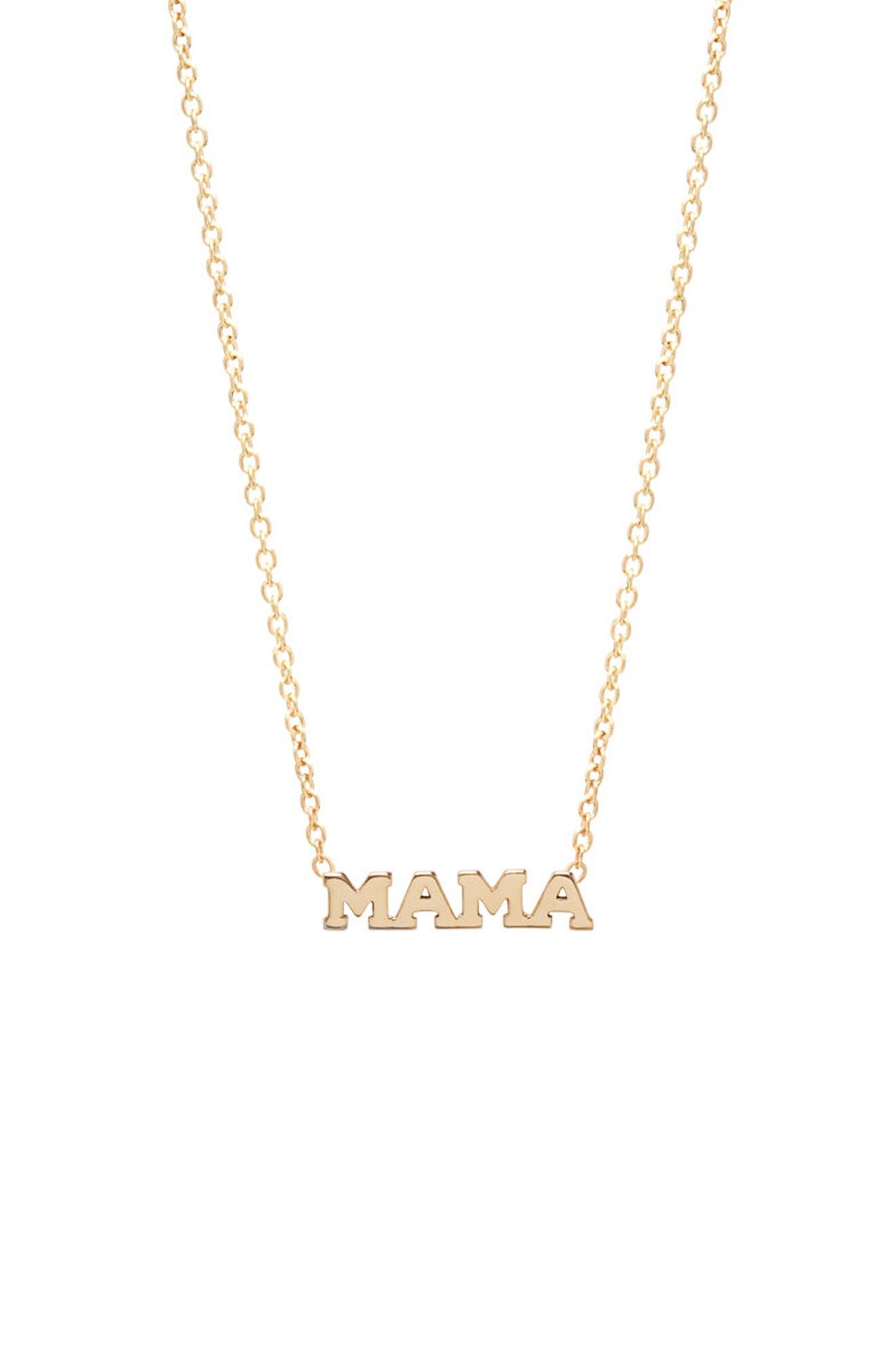 Main Image - Zoë Chicco Itty Bitty Mama Pendant Necklace