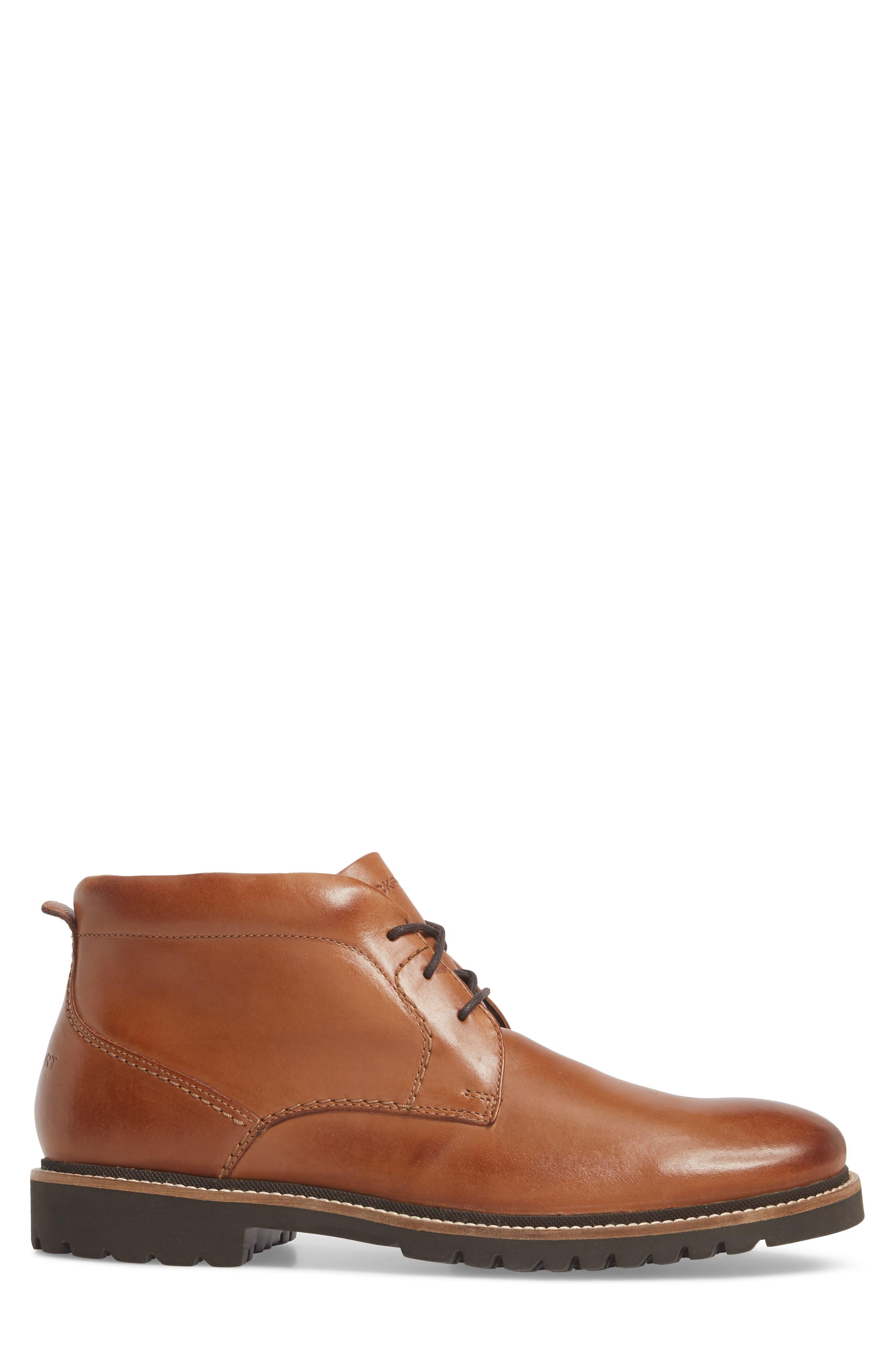 Marshall Chukka Boot,                             Alternate thumbnail 3, color,                             Cognac Leather