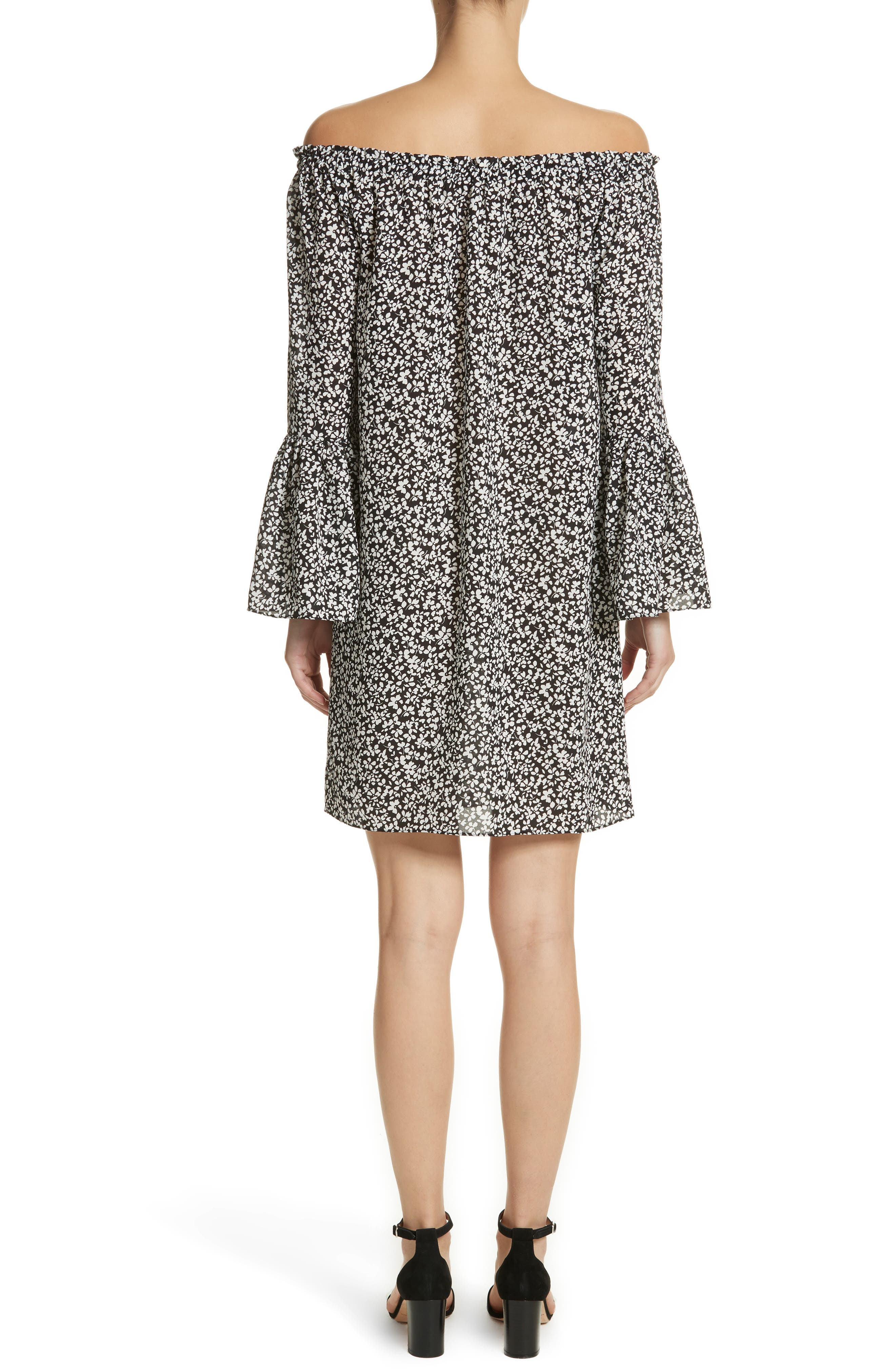 Alternate Image 2  - Michael Kors Print Silk Off the Shoulder Dress