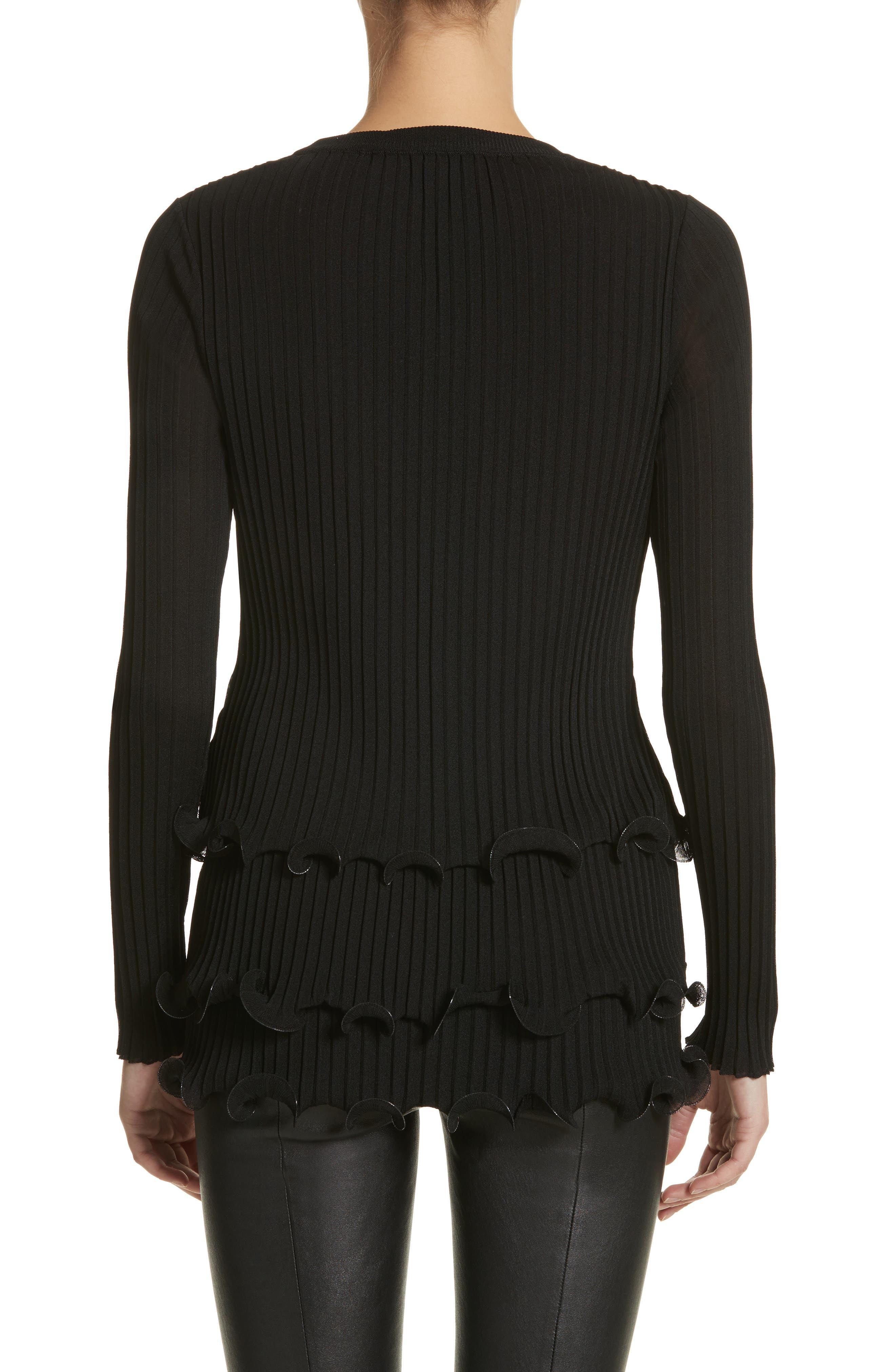 Alternate Image 2  - Givenchy Ruffle Hem Rib Knit Top