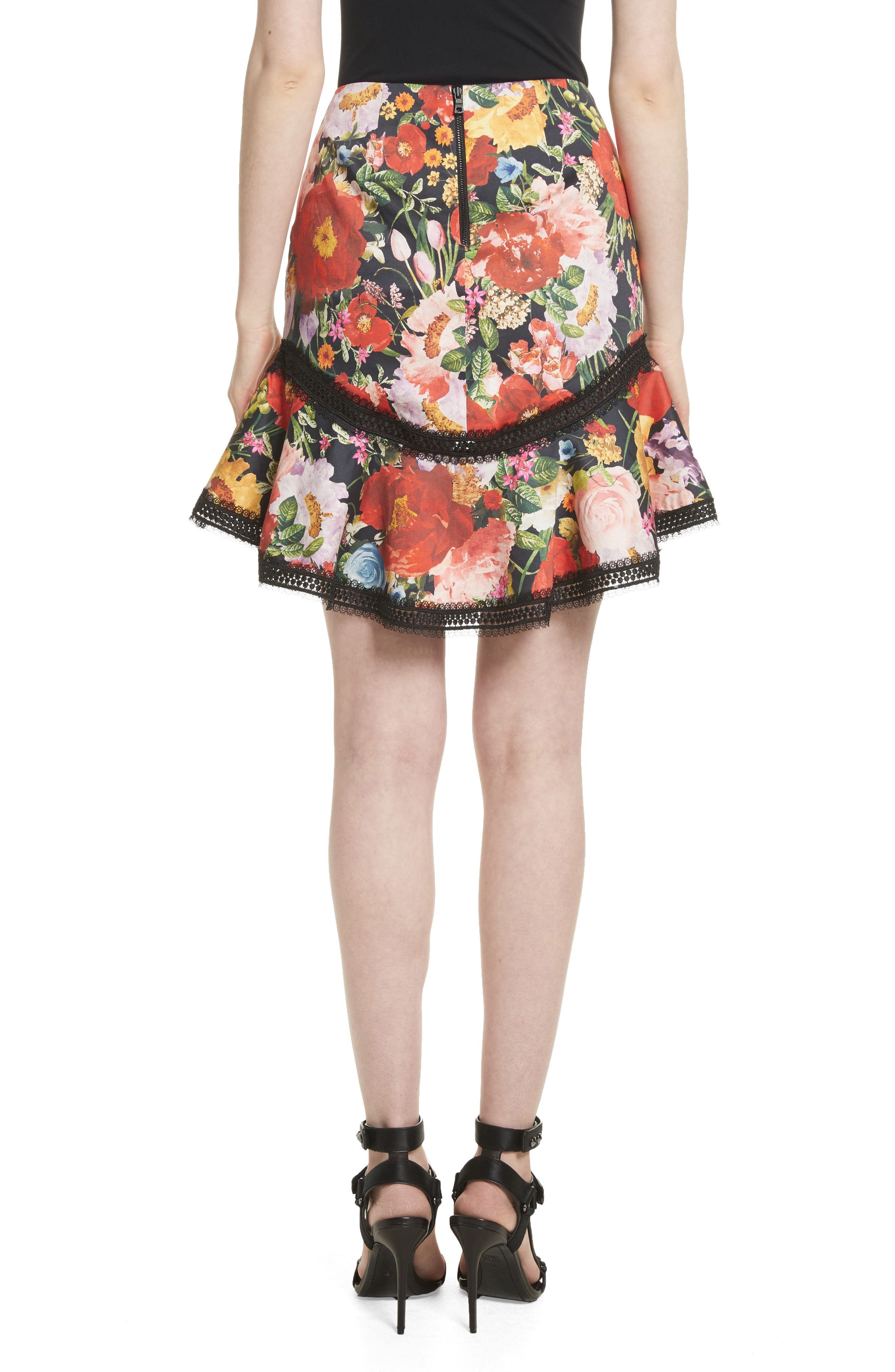 Floral Skirt,                             Alternate thumbnail 2, color,                             Blooming Garden