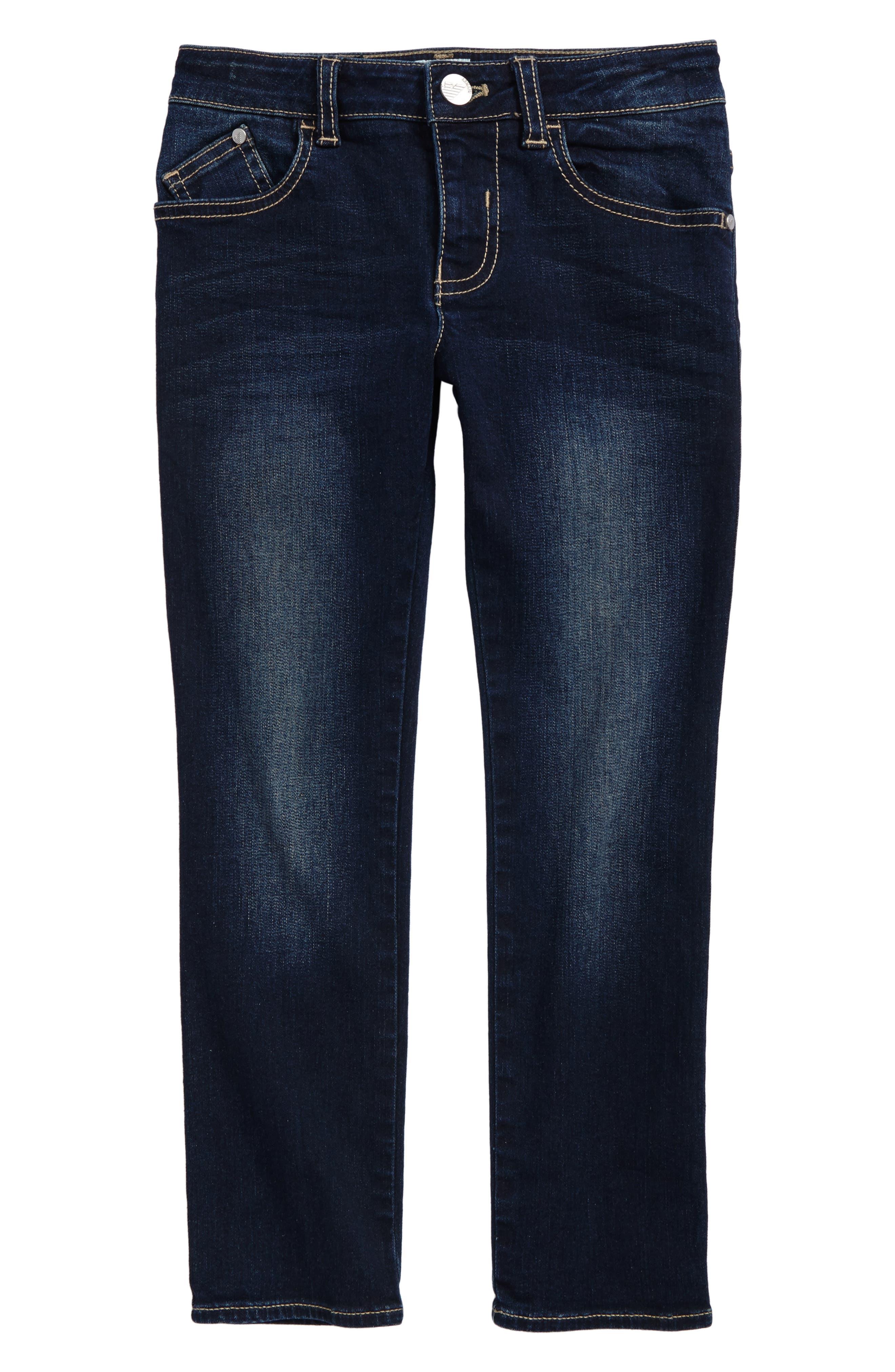 Straight Leg Jeans,                         Main,                         color, Denim Blue