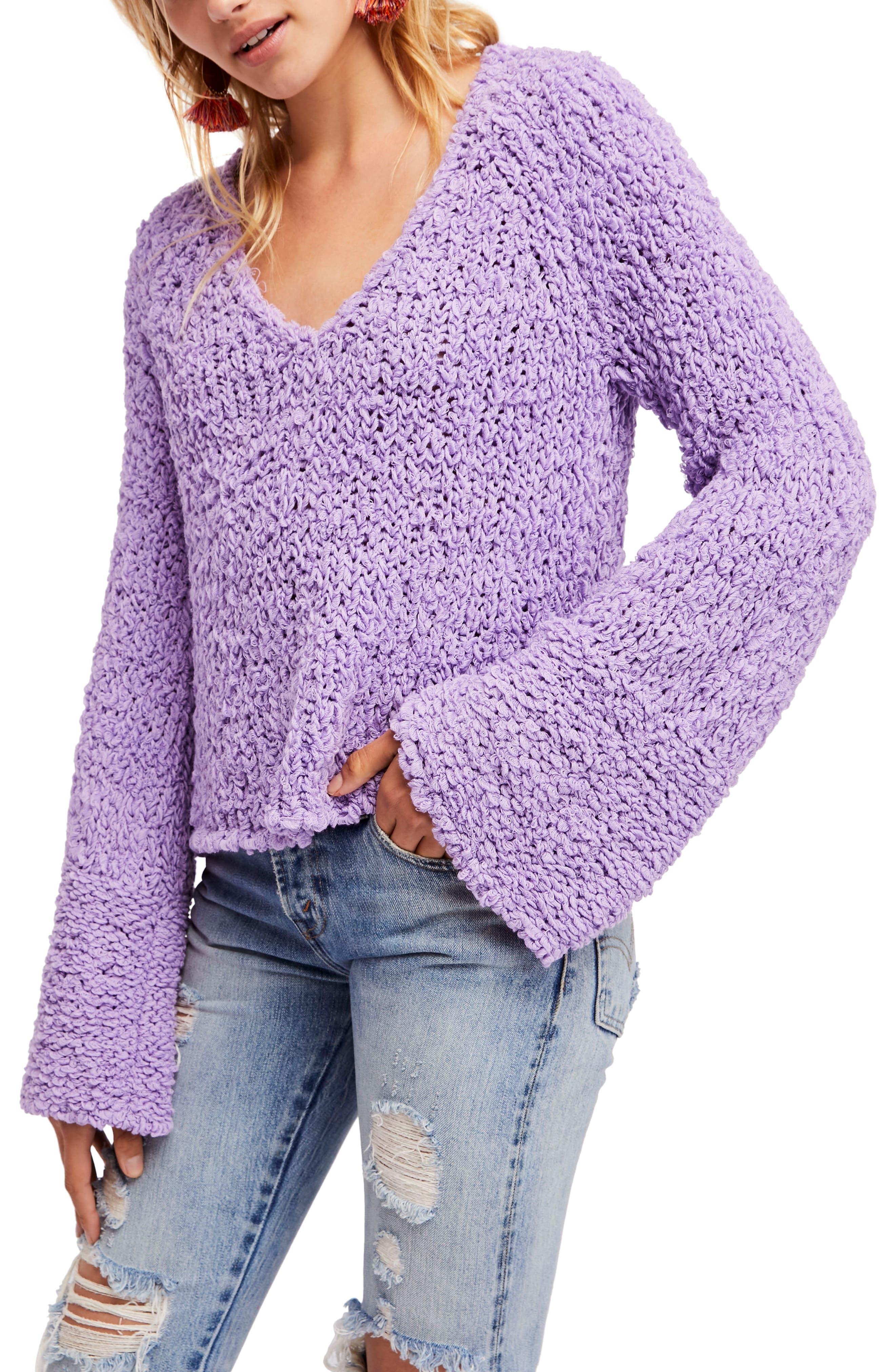 Women's Purple Long Sleeve Sweaters   Nordstrom