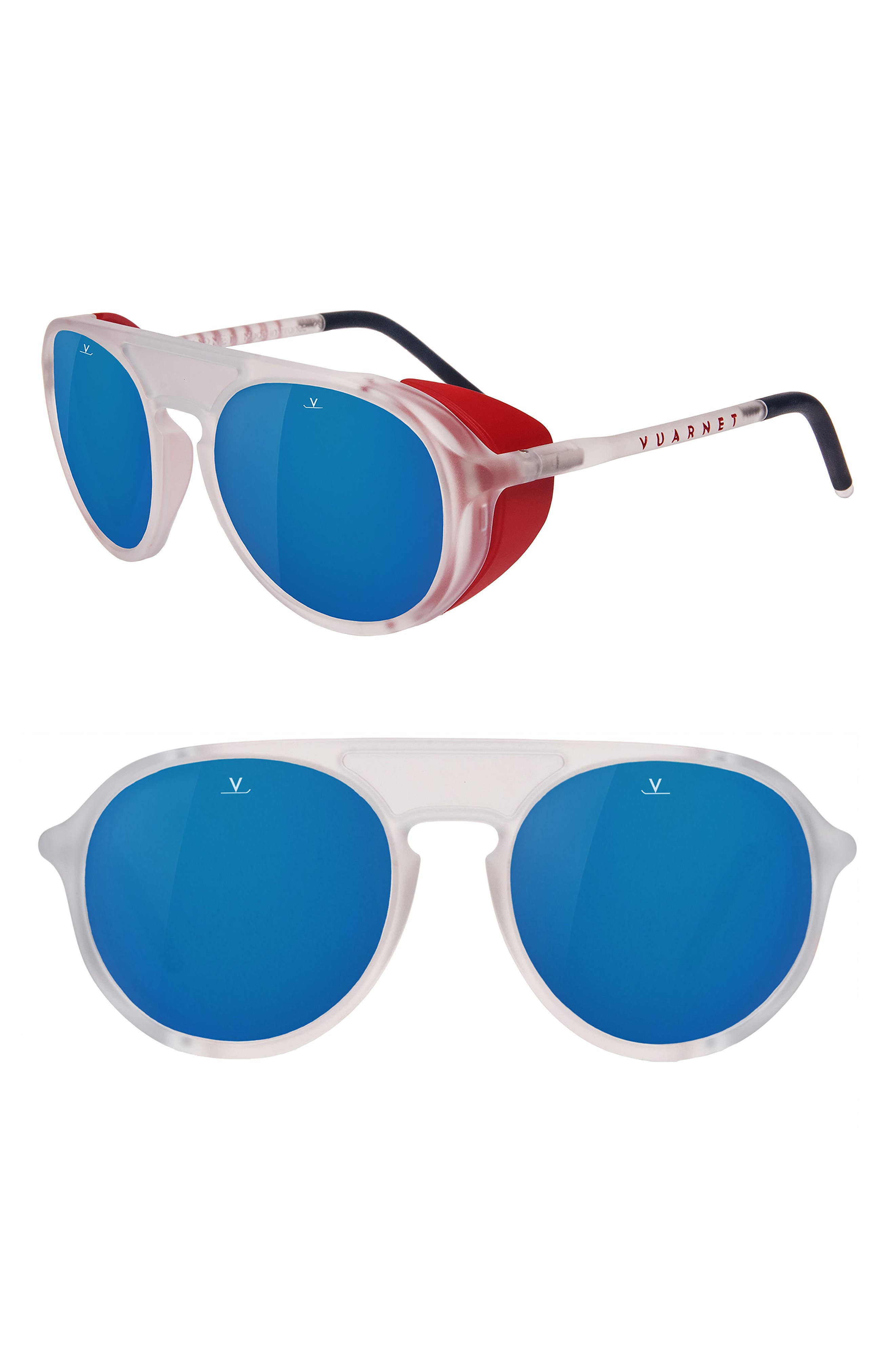 Main Image - Vuarnet Ice 51mm Polarized Aviator Sunglasses