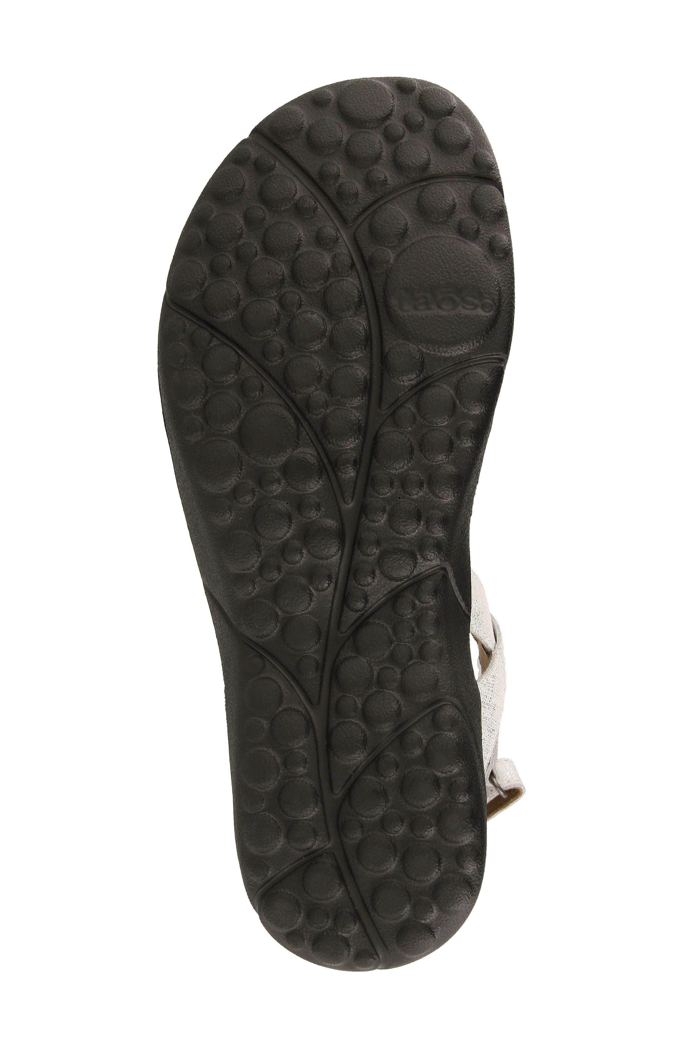 Beauty Sandal,                             Alternate thumbnail 5, color,                             White Metallic Leather