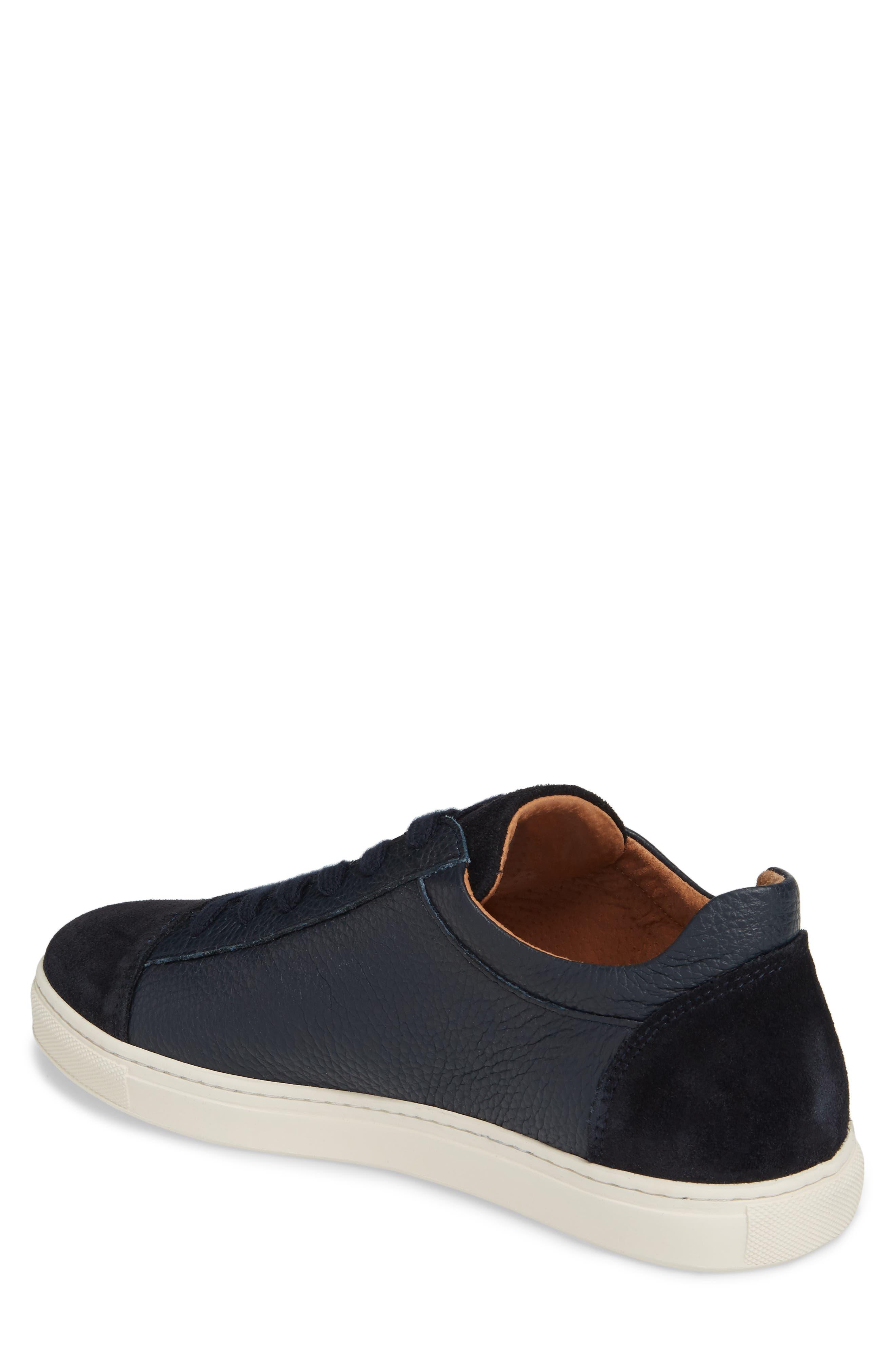 David Cap Toe Sneaker,                             Alternate thumbnail 2, color,                             Dark Navy Leather/ Suede