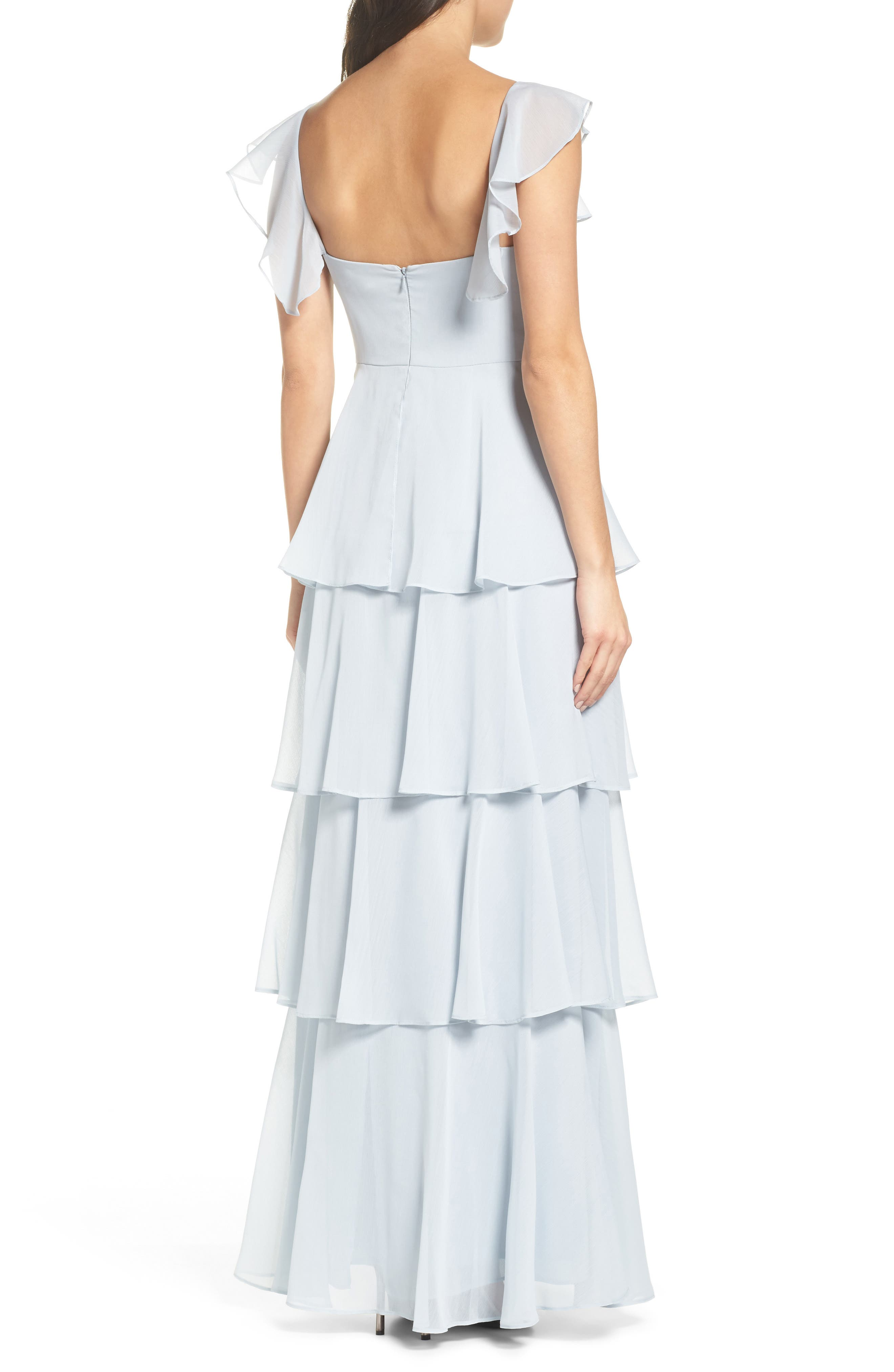 Abby Off the Shoulder Tiered Dress,                             Alternate thumbnail 2, color,                             Ocean Mist