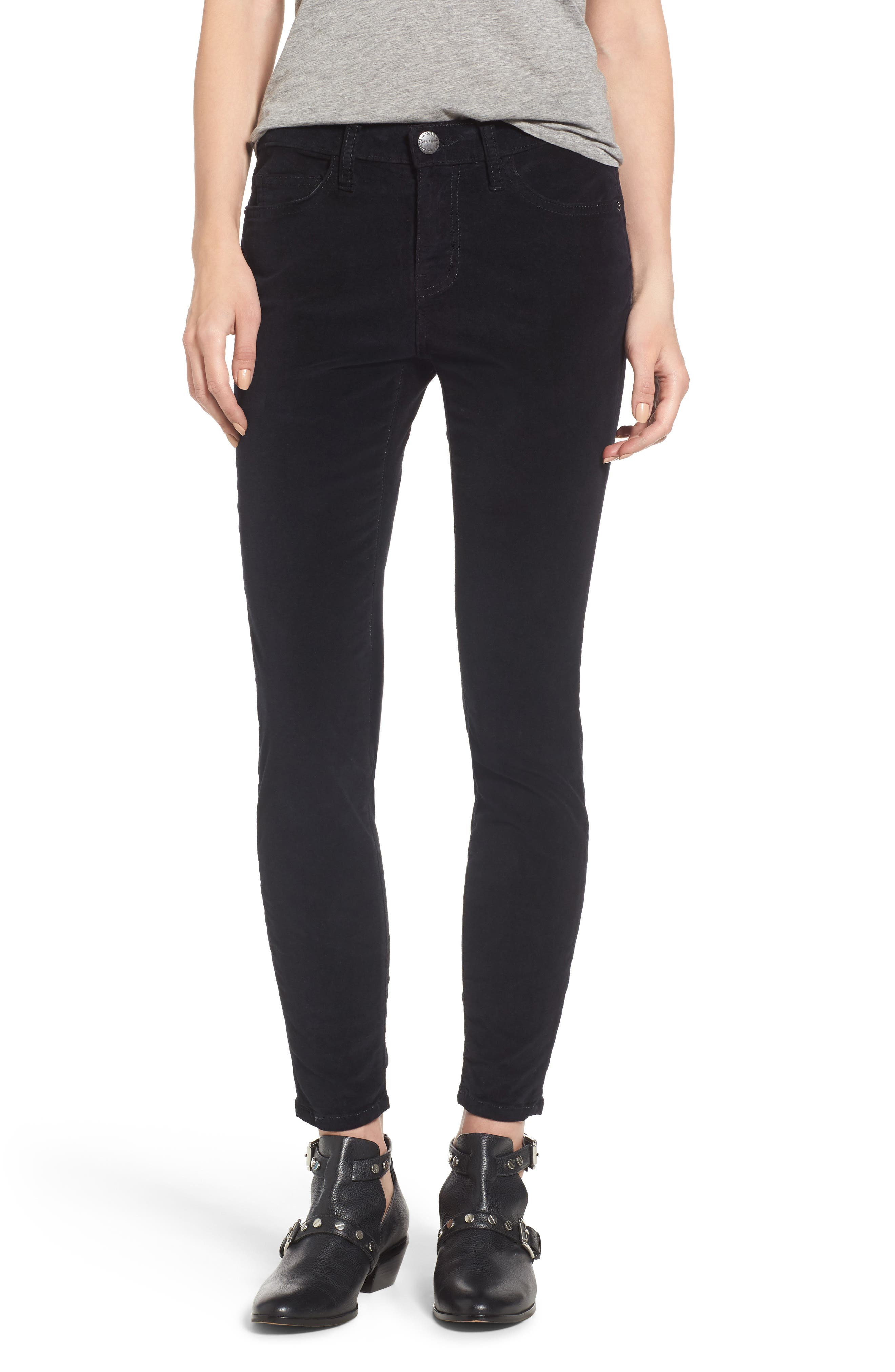 The Stiletto Ankle Skinny Pants,                             Main thumbnail 1, color,                             Jet Black 2