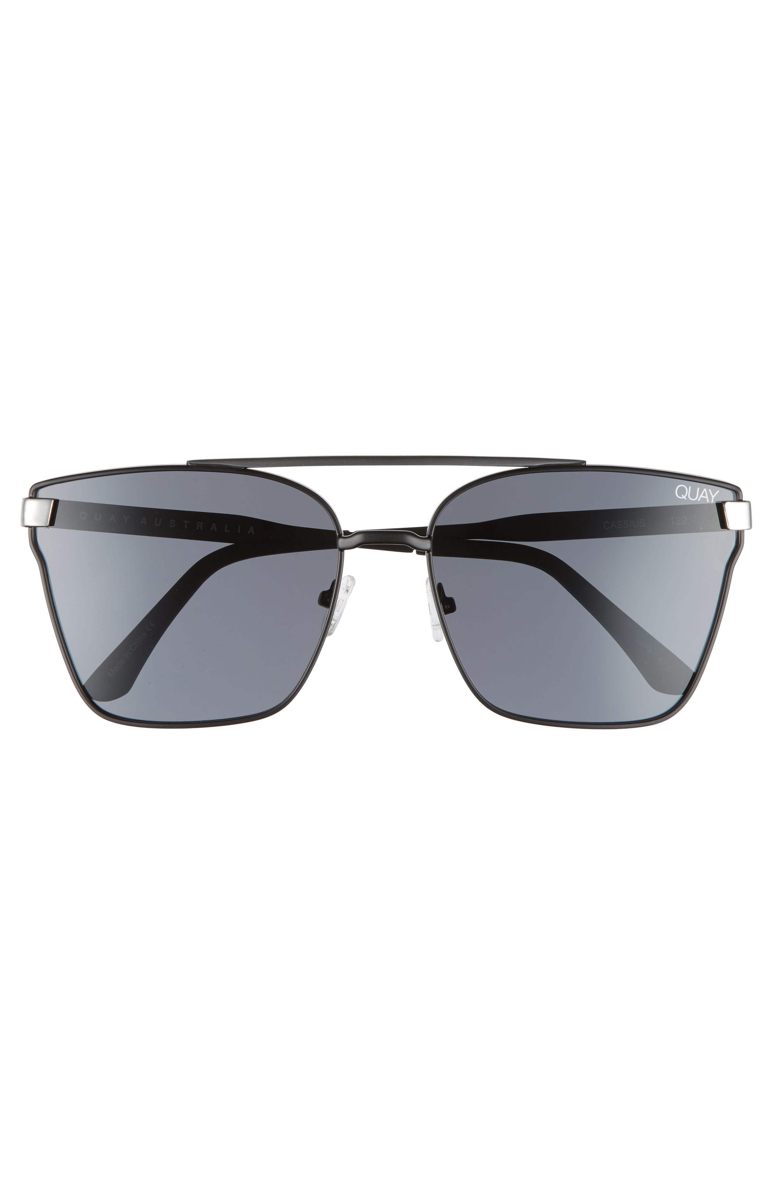Cassius 59mm Navigator Sunglasses,                             Alternate thumbnail 2, color,                             Black/Smoke