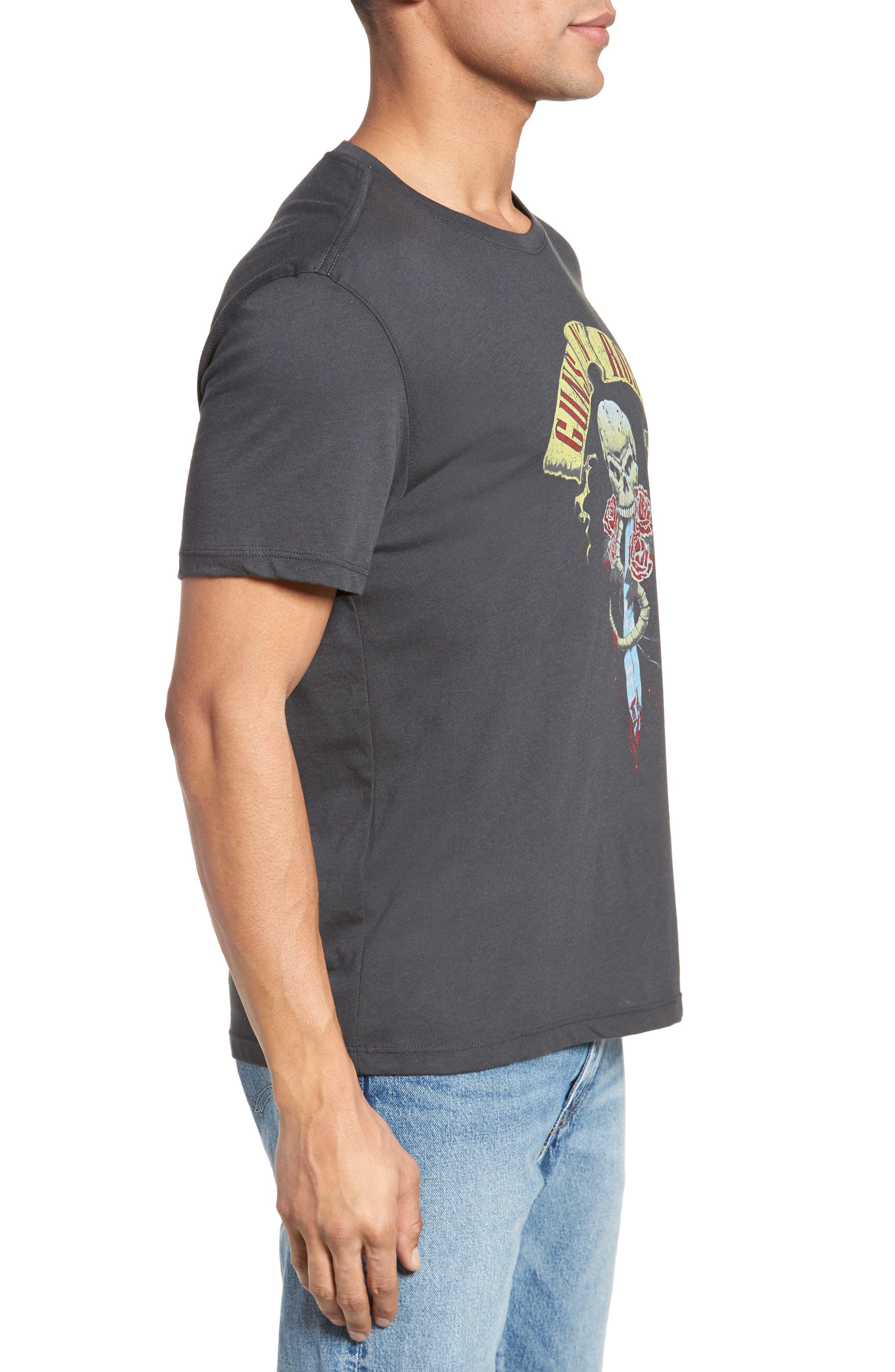 Guns N' Roses Graphic T-Shirt,                             Alternate thumbnail 3, color,                             Coal