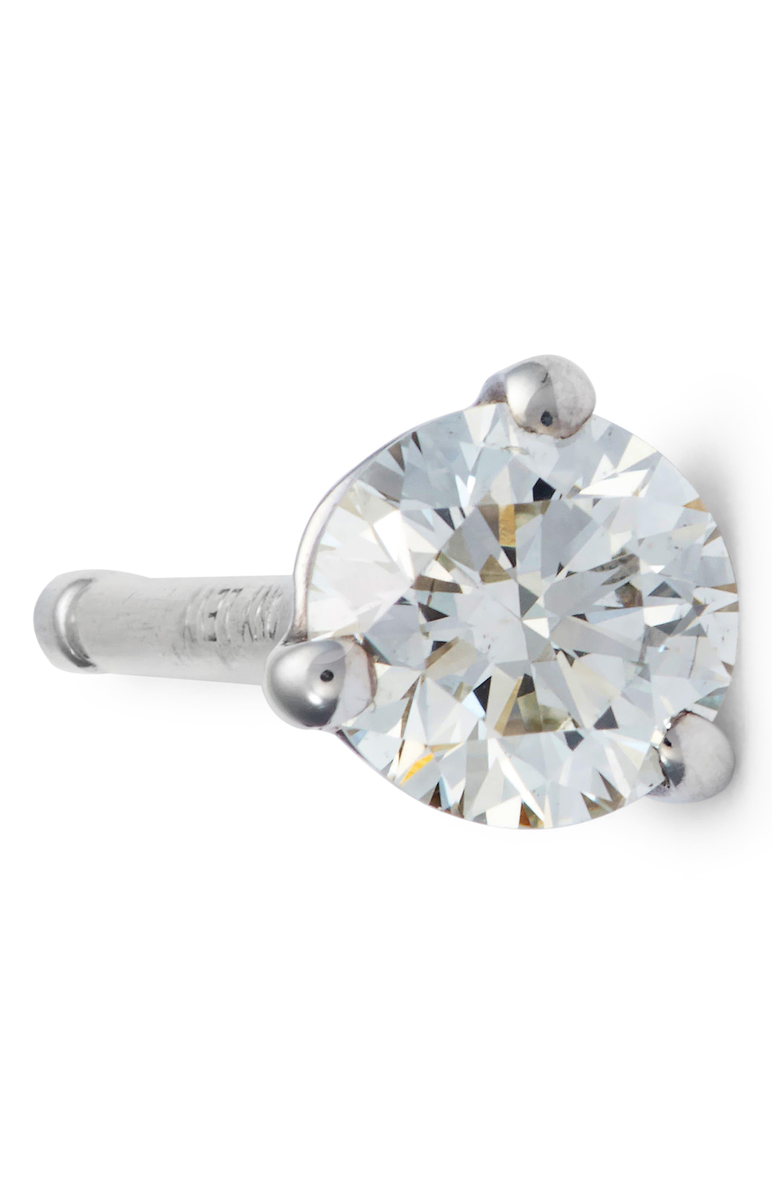 Alternate Image 4  - Bony Levy Single Diamond Stud Earring (Nordstrom Exclusive)