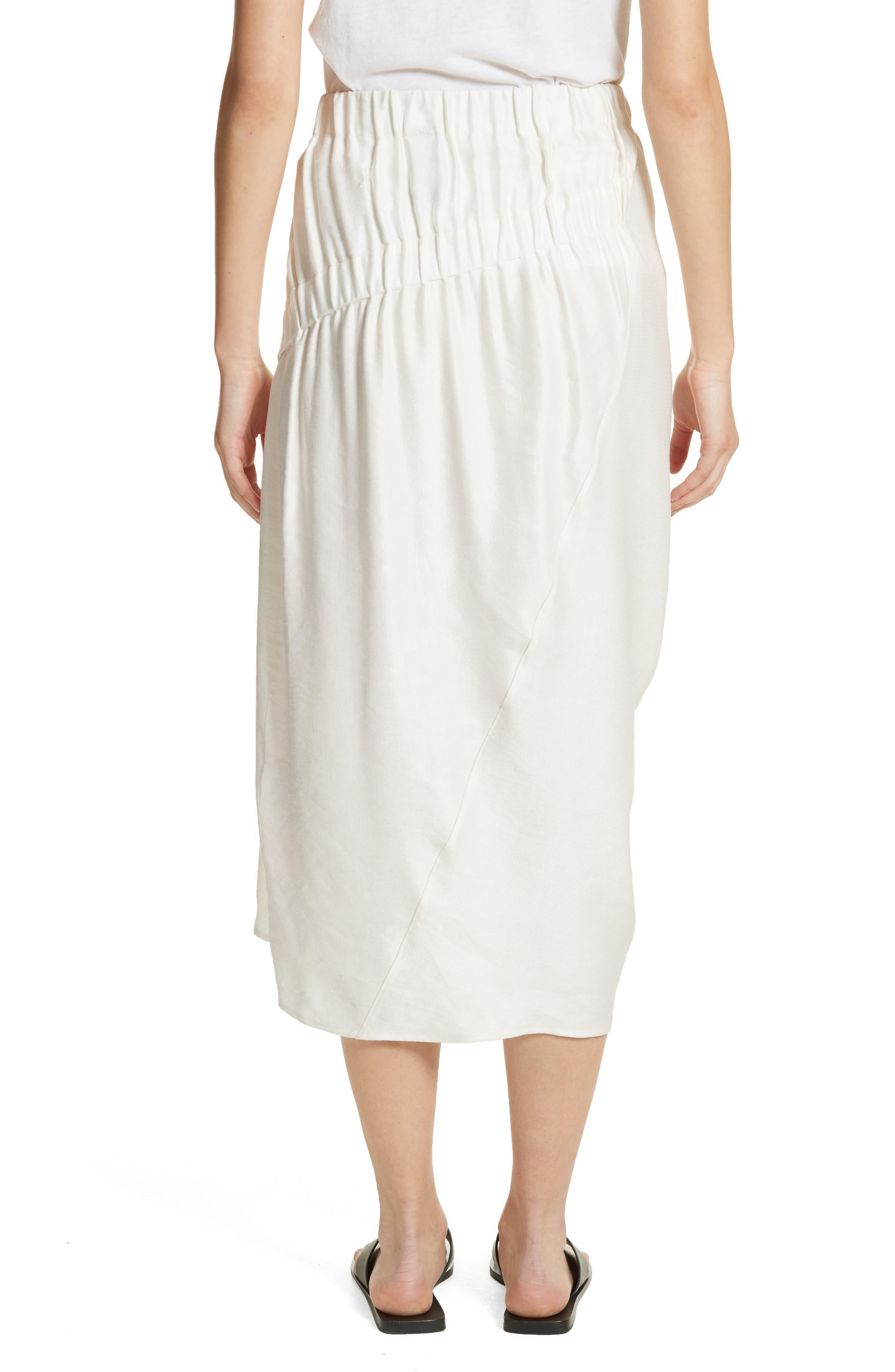 Ruched Drape Skirt,                             Alternate thumbnail 2, color,                             White Pepper