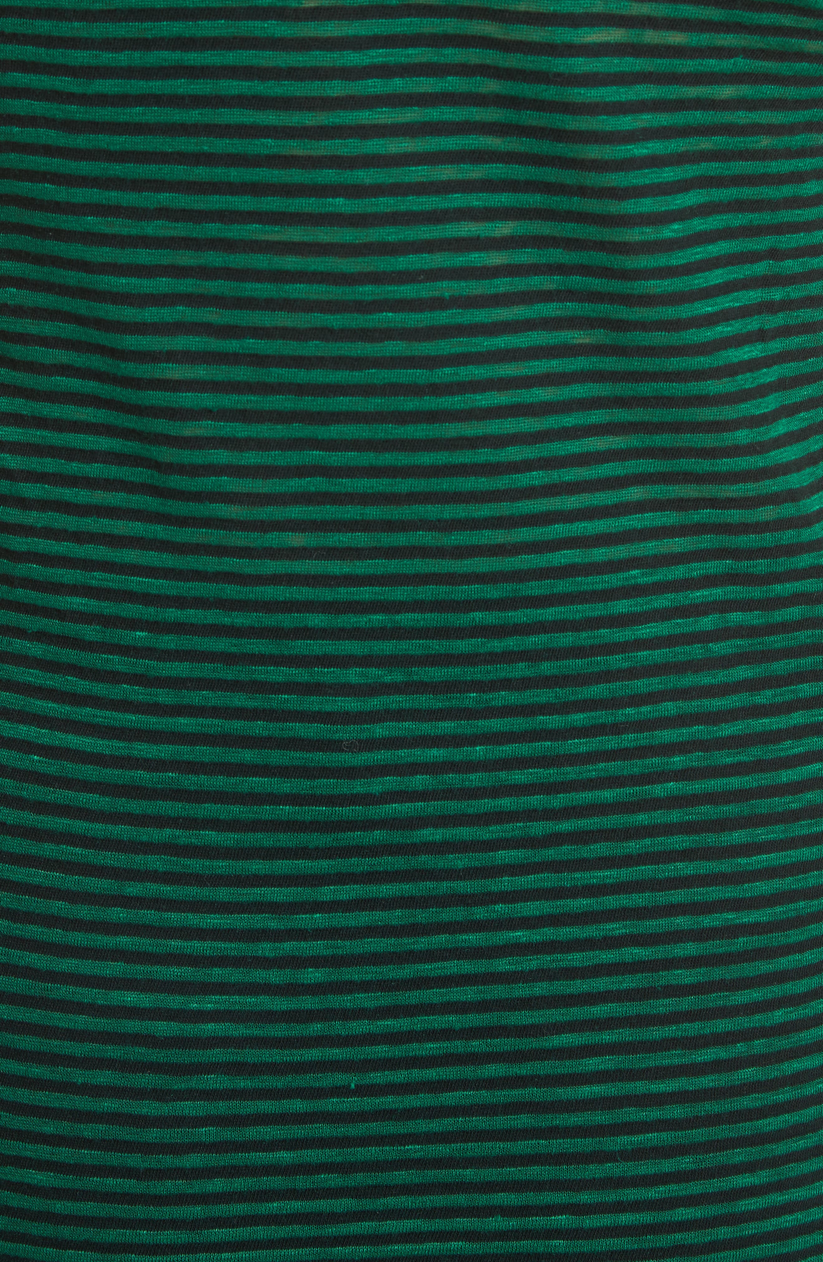 Isabel Marant Étoile Avien Stripe Cotton & Linen Tank,                             Alternate thumbnail 5, color,                             Green