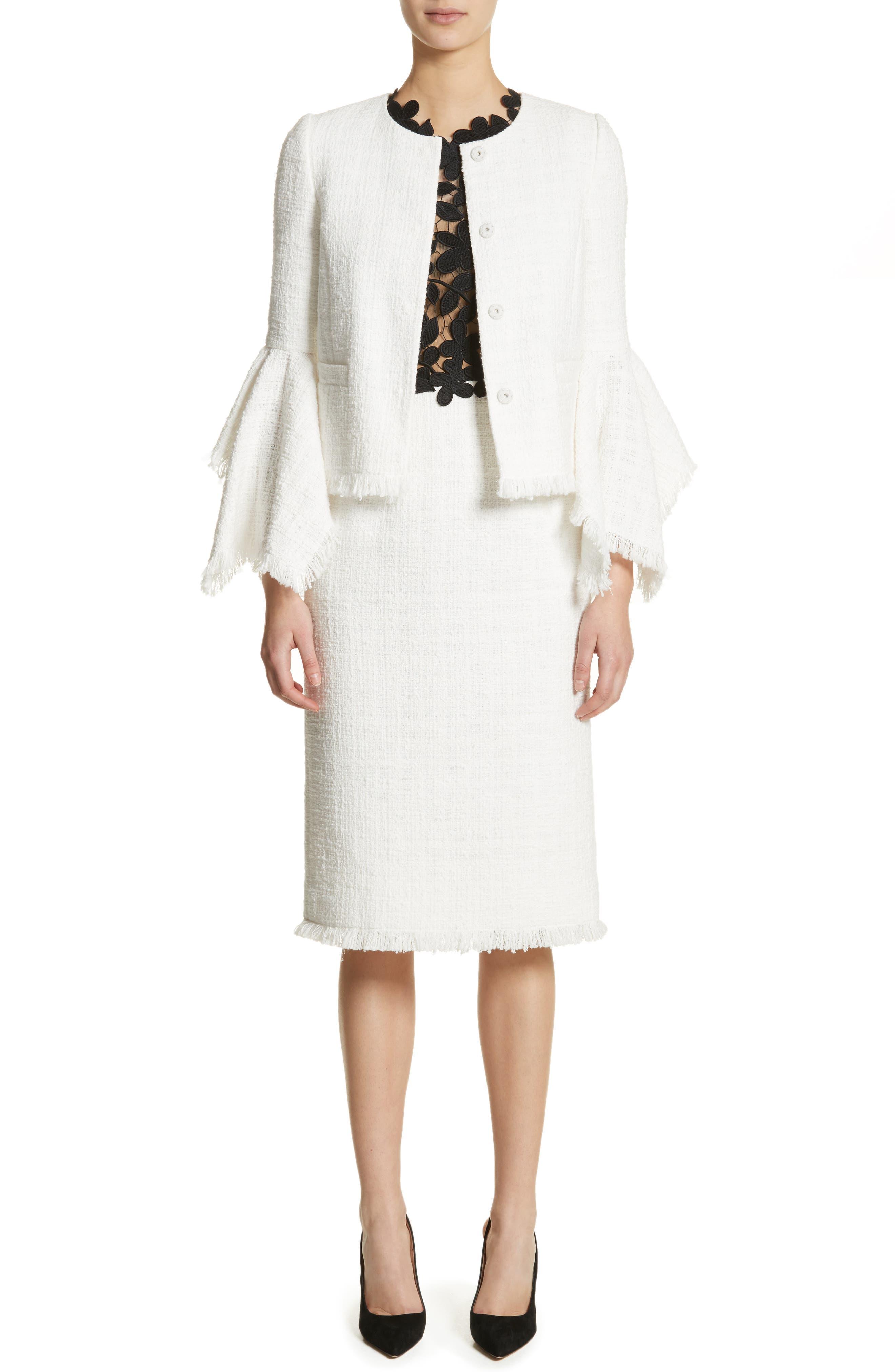 Lace Bodice Sheath Dress,                             Alternate thumbnail 8, color,                             Black/ White
