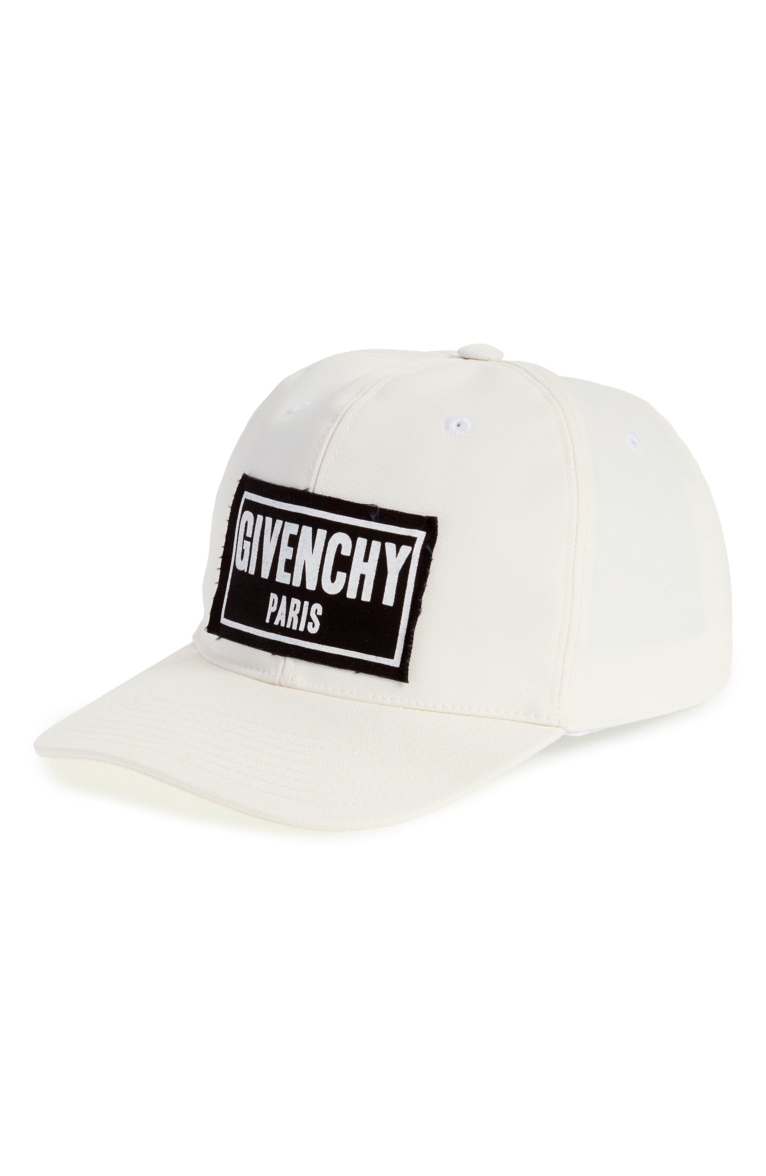 Givenchy Box Logo Patch Canvas Cap